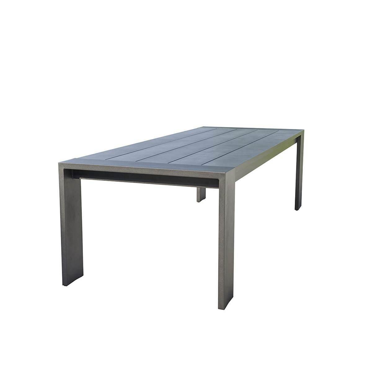 Table de jardin en aluminium noir 8 places