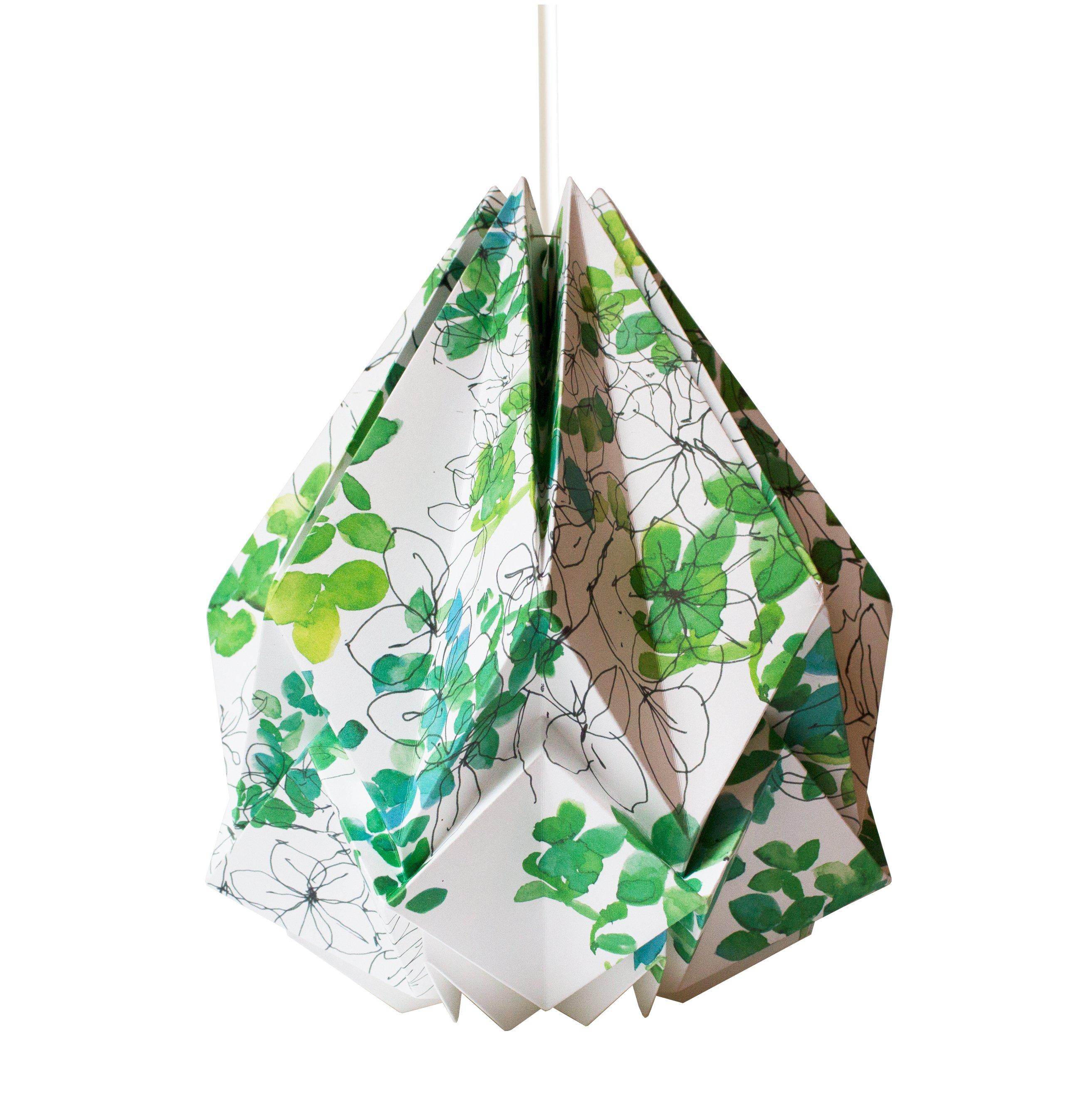 Suspension origami en papier motif printemps taille M