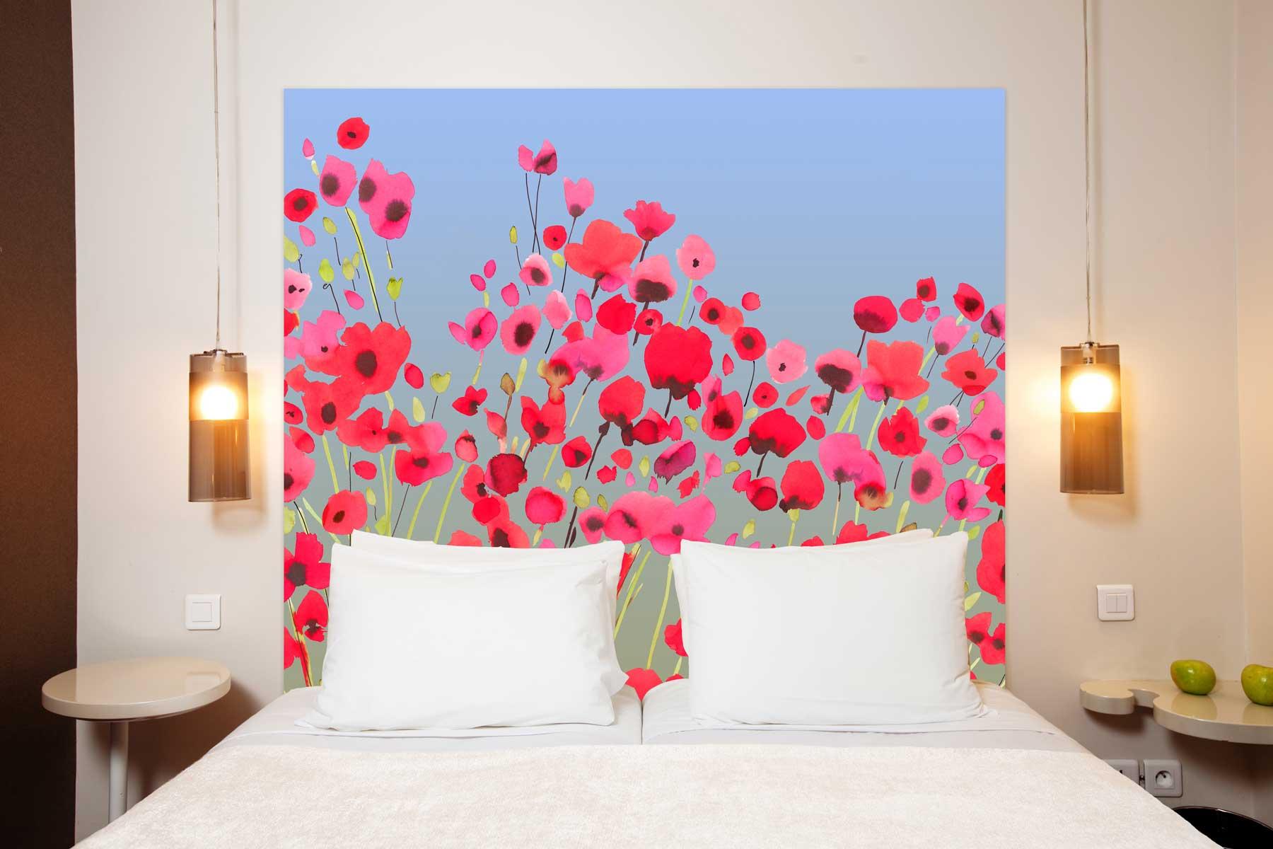 Tête de lit en tissu sans support en bois 160*140 cm