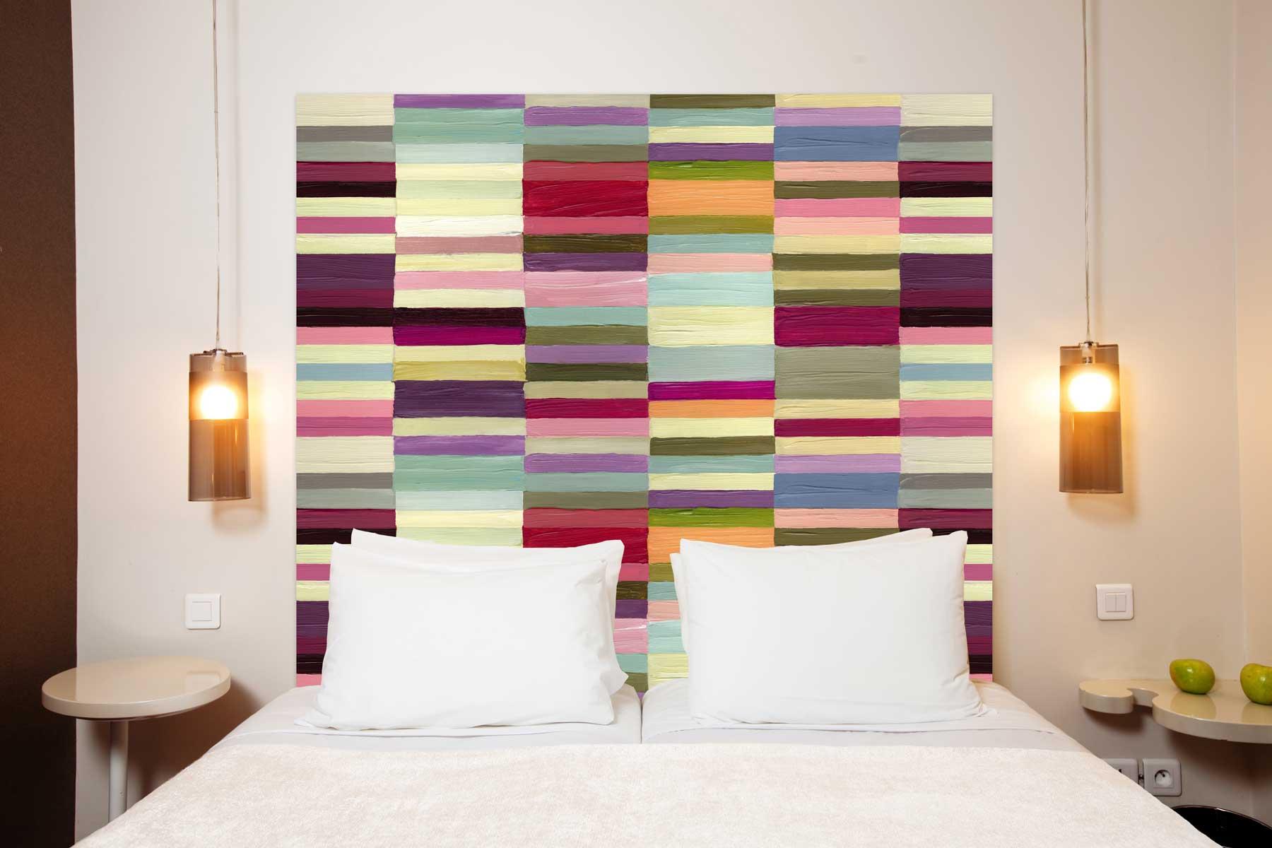 Tête de lit en tissu sans support en bois 180*140 cm