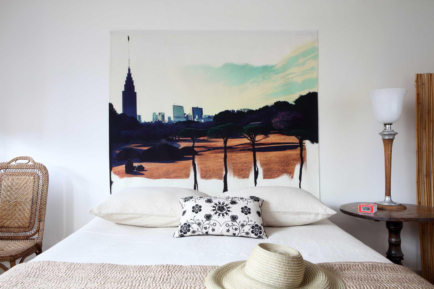 Tête de lit en tissu sans support en bois 160*125 cm