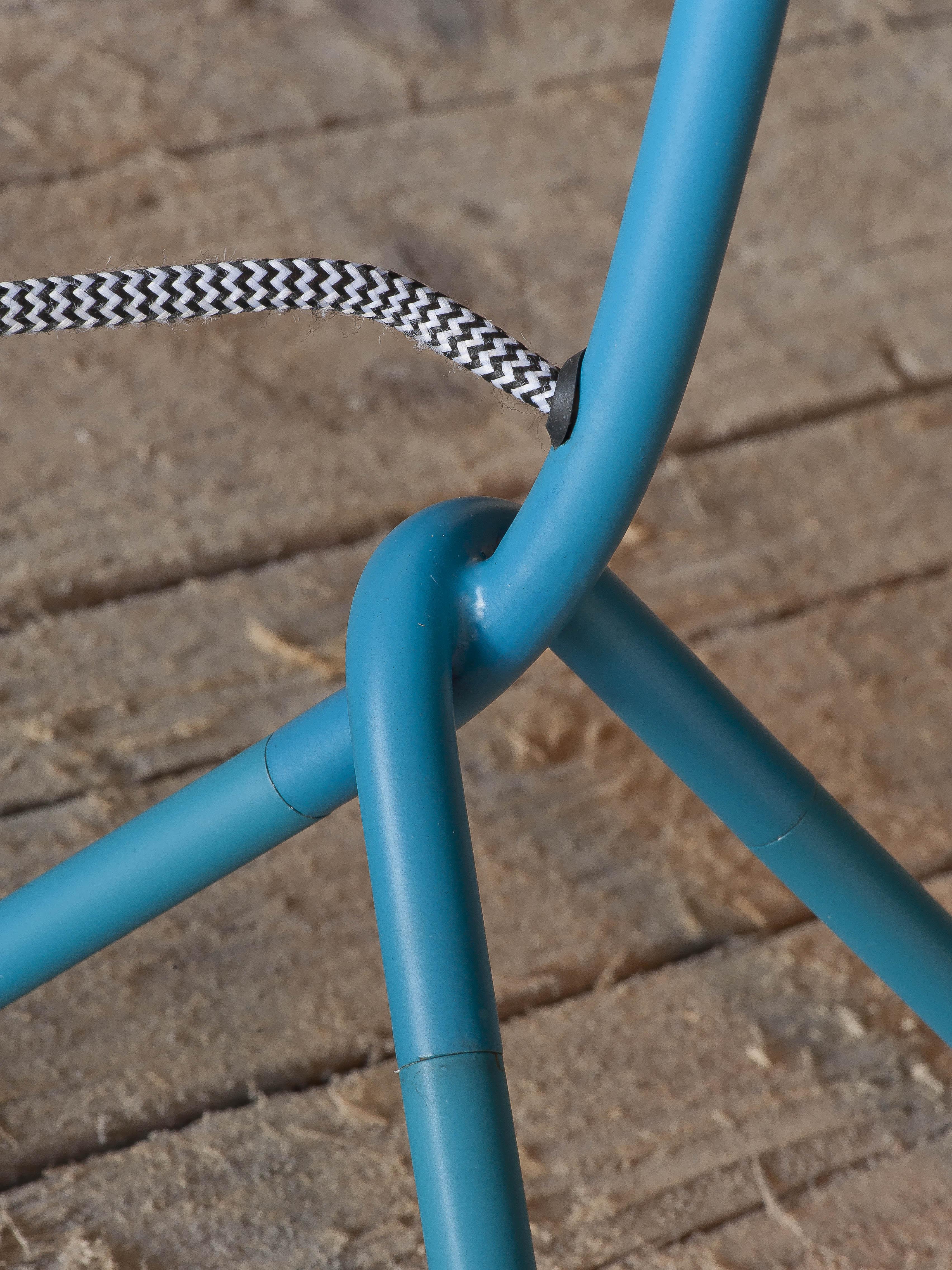 Lampe de table bleue H59cm