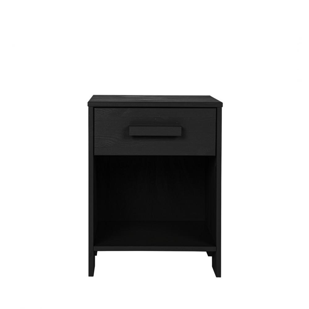 Table de chevet bois fsc noir