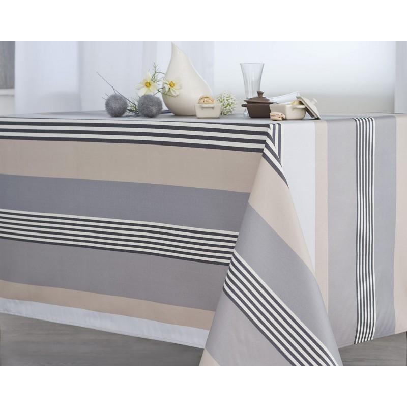 Nappe jacquard enduit acrylique ardoise 160x160 cm