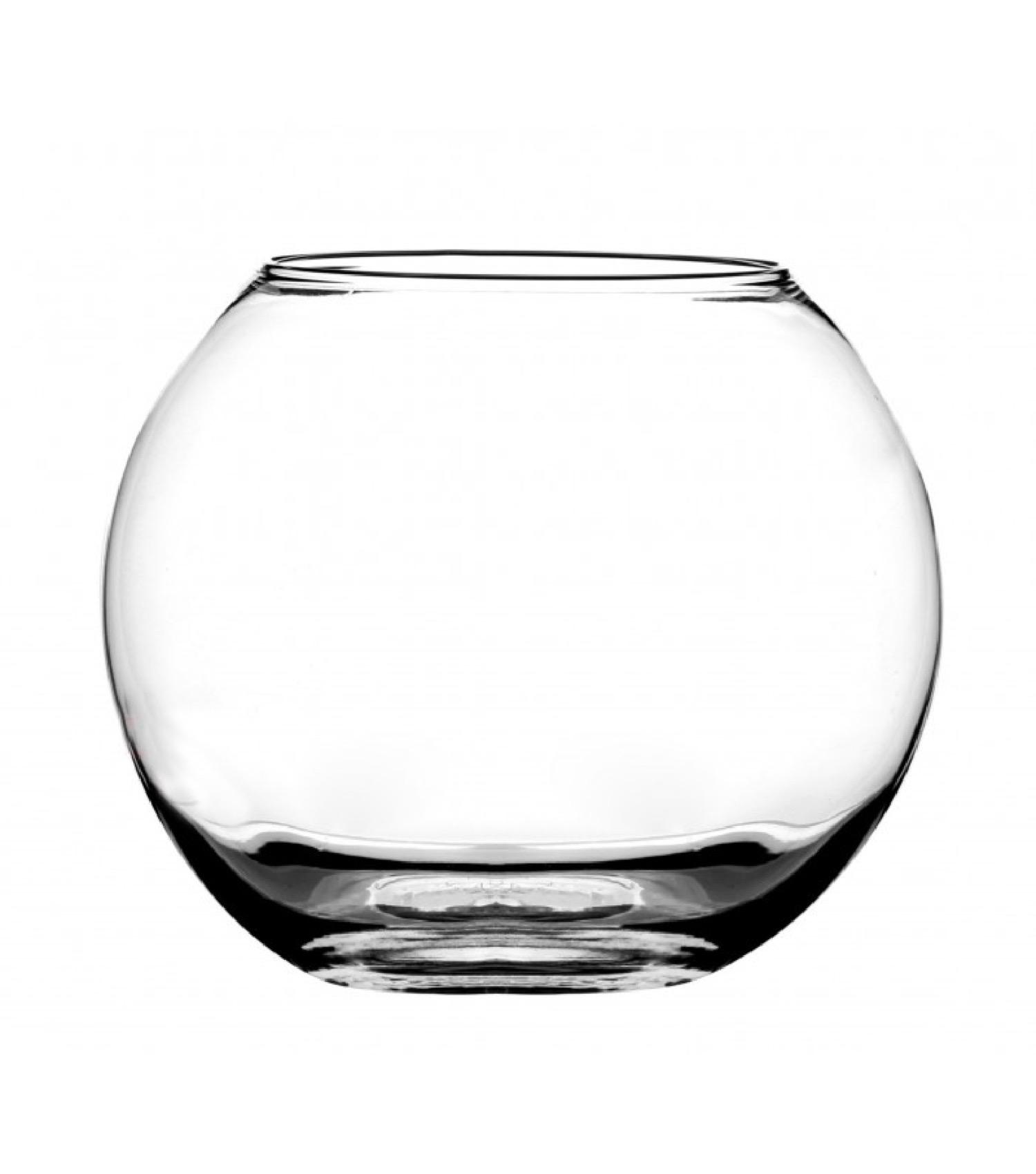 Petit vase en verre transparent D12