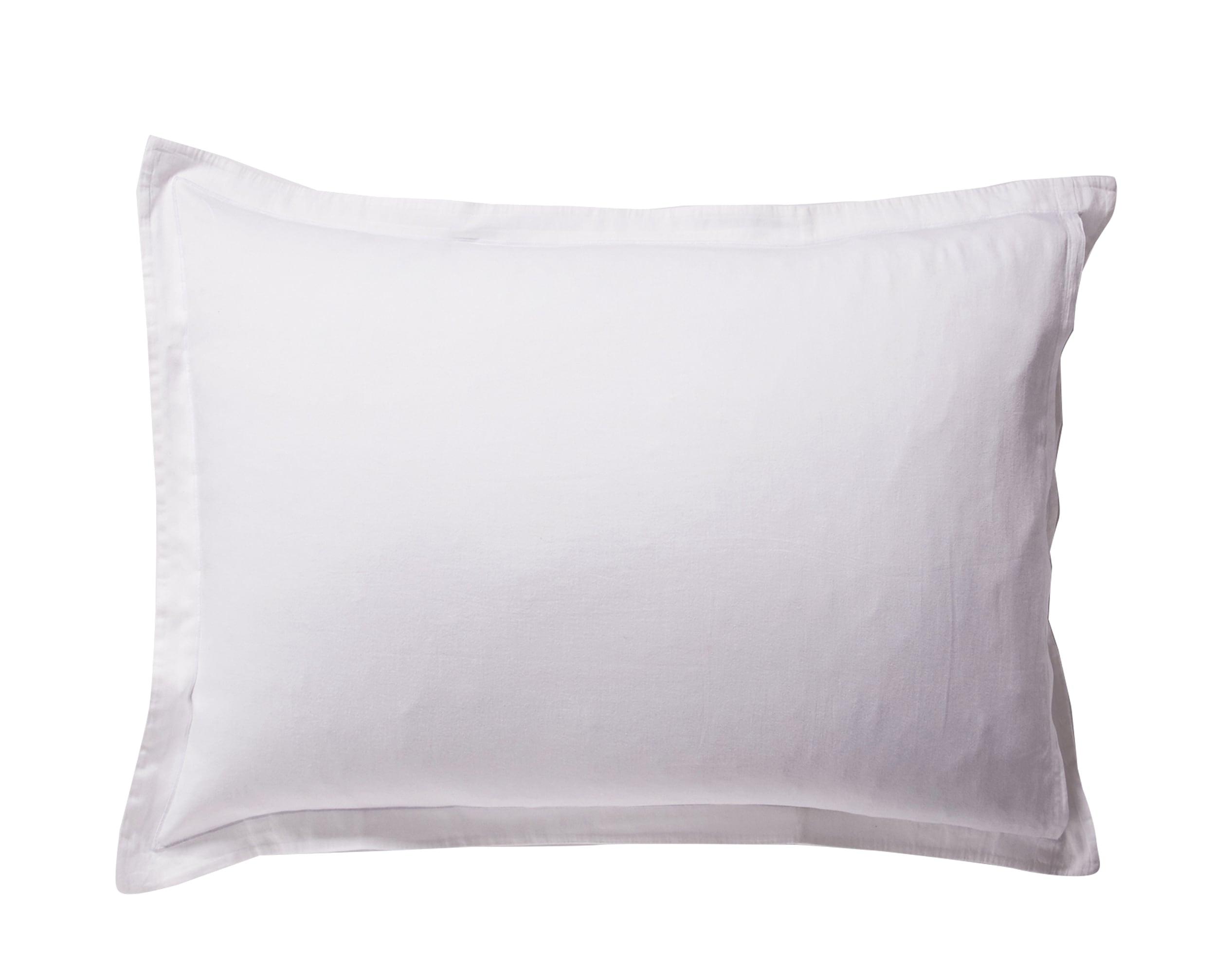 Taie d'oreiller 50x70 en percale de coton  blanc