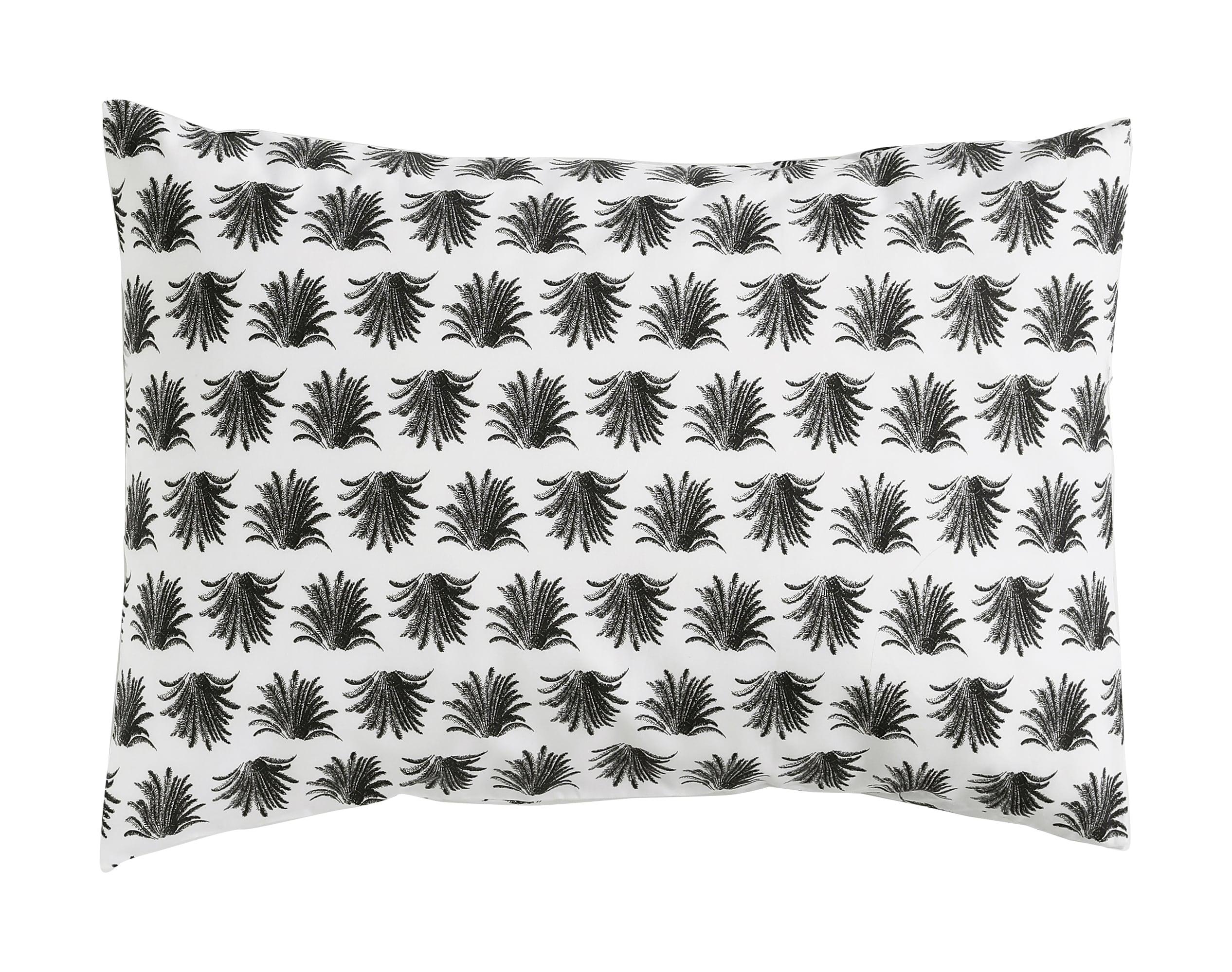 Taie d'oreiller 50x70 en coton gris anthracite