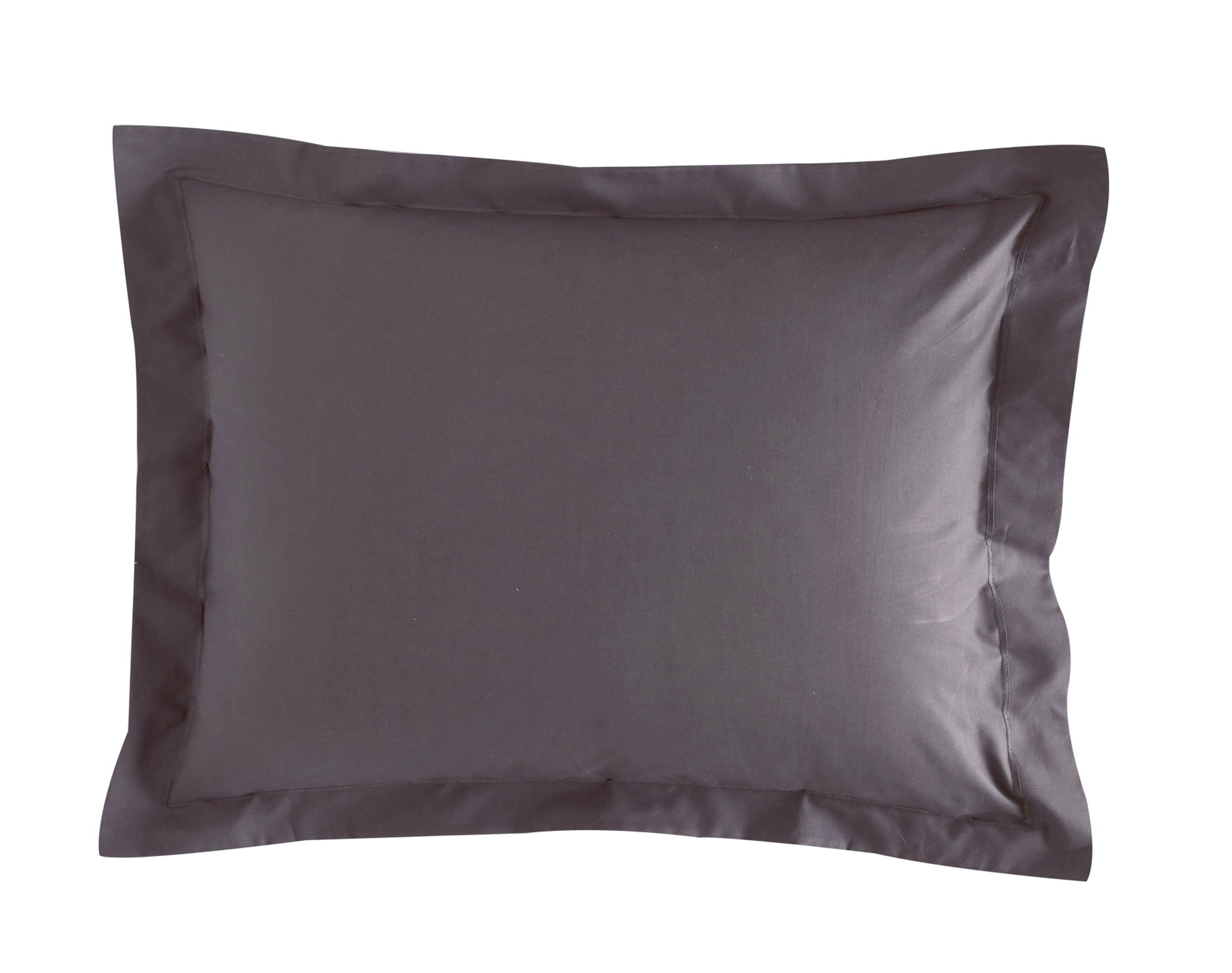 Taie d'oreiller 50x70 en percale de coton  gris souris