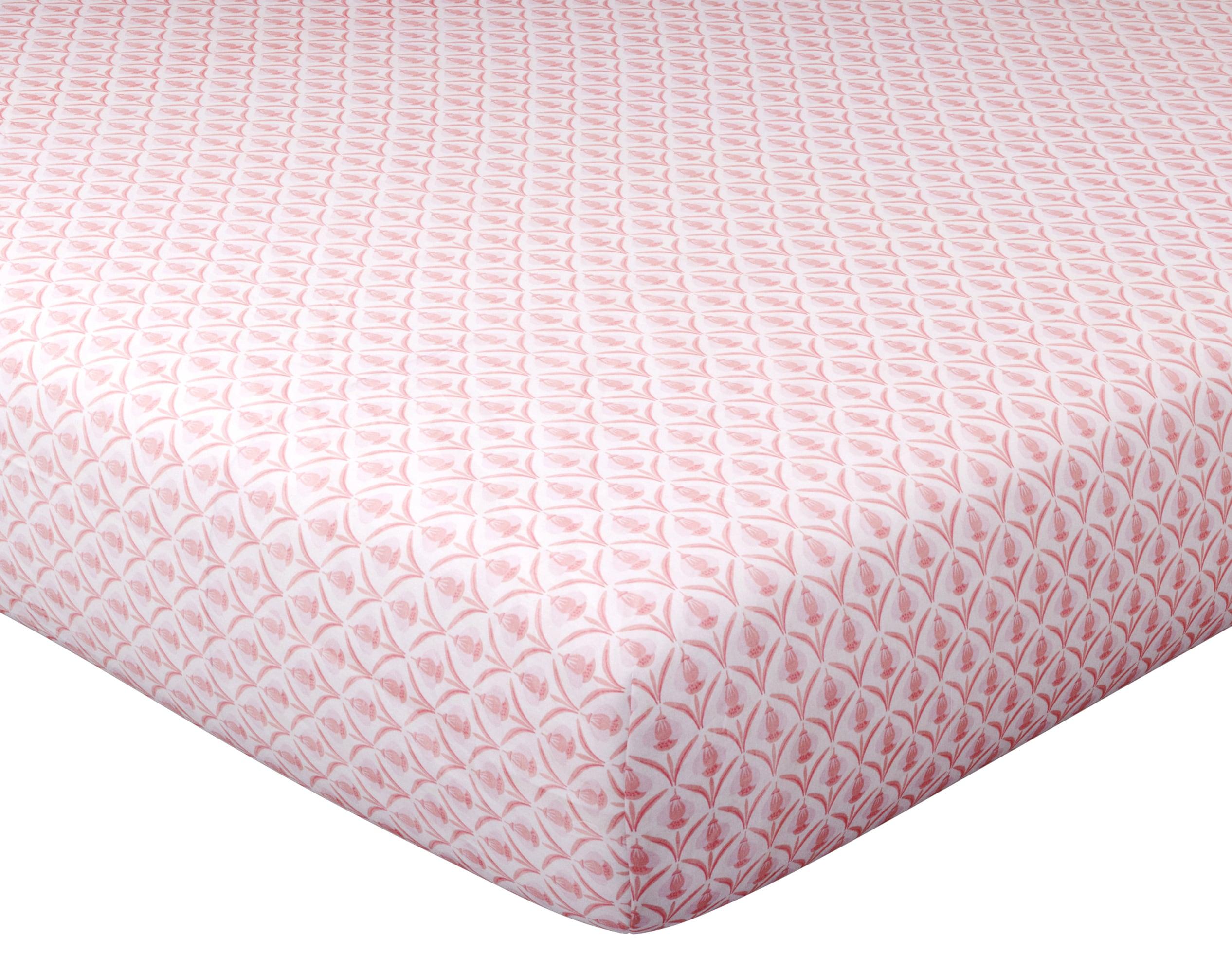 Drap-housse 140x190 en coton rose blush