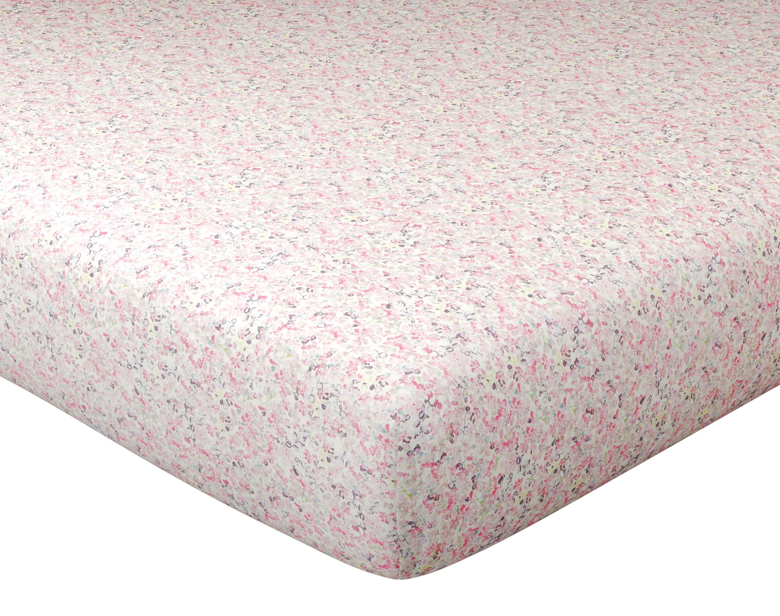 Drap-housse 140x190 en coton rose