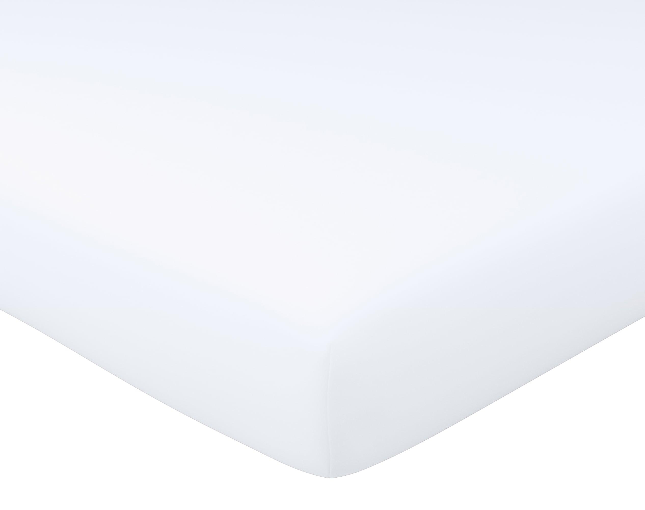 Drap-housse 140x190 en percale de coton  blanc