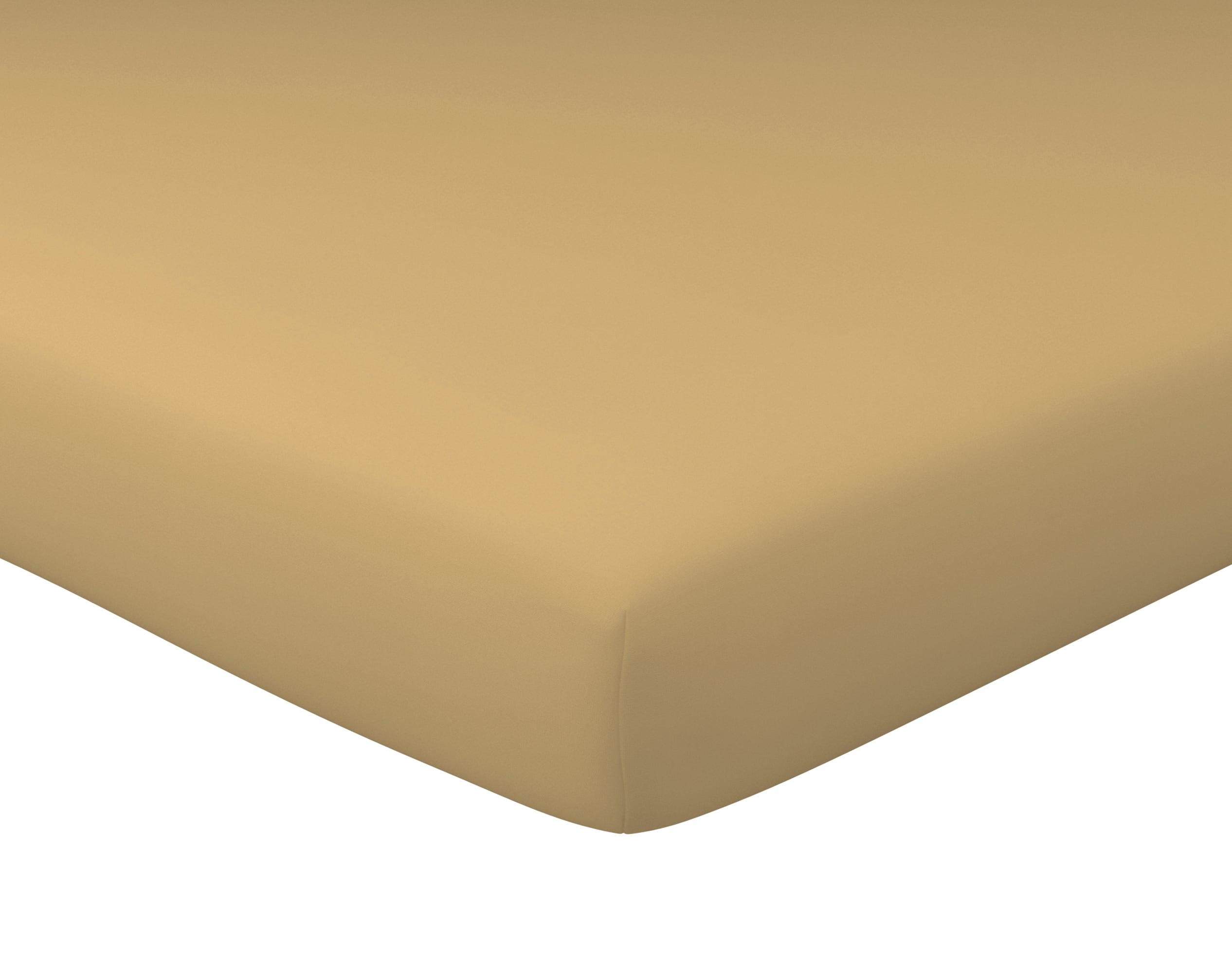 Drap-housse 140x190 en coton marron