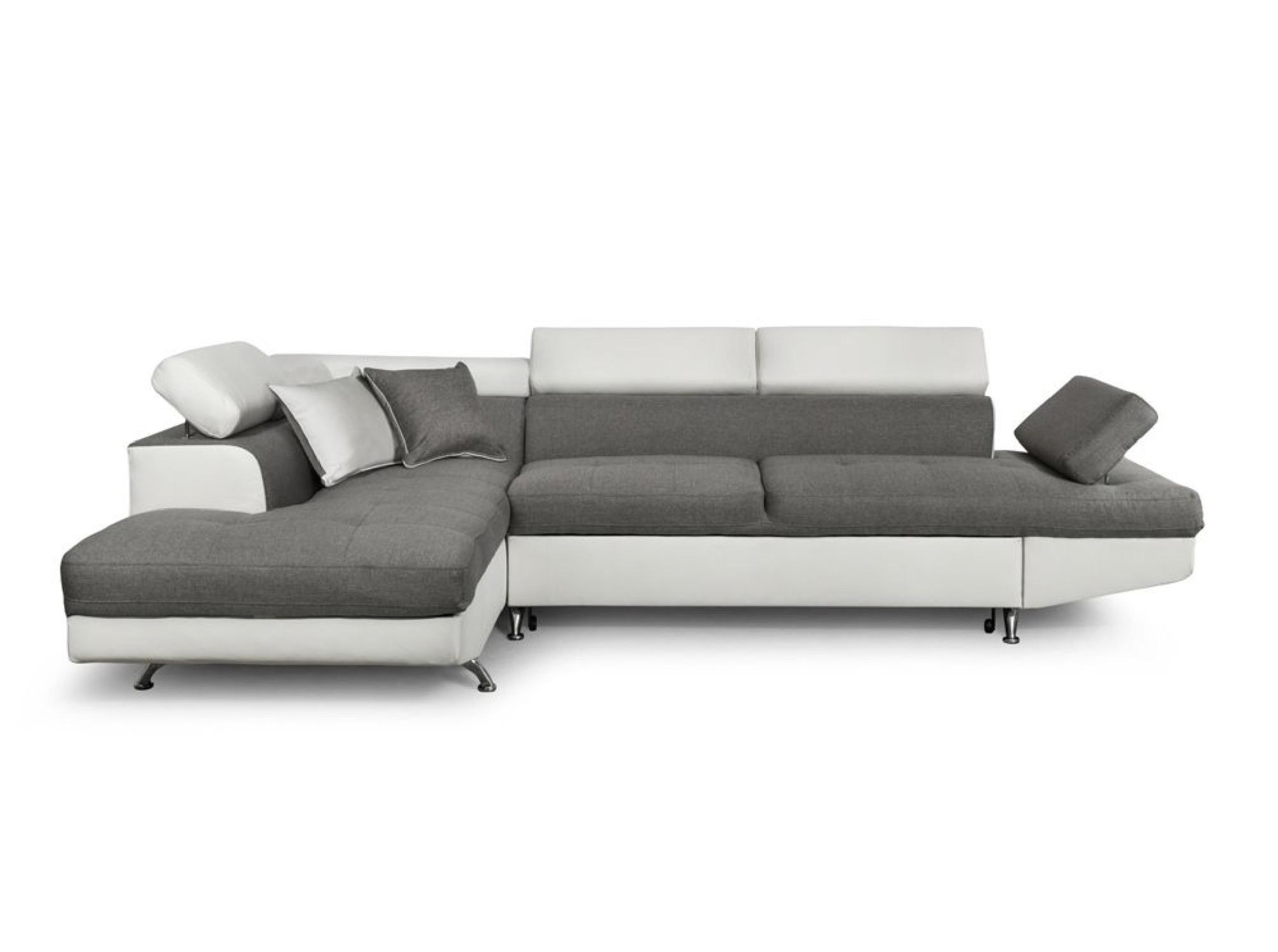 Canapé d'angle 5 places Blanc Contemporain Confort