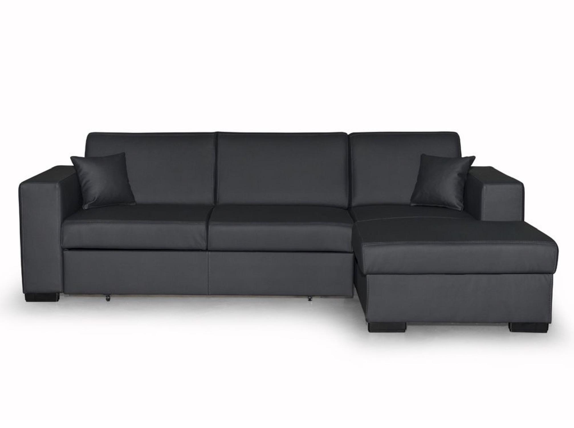 Canapé d'angle Gris Simili Moderne Confort