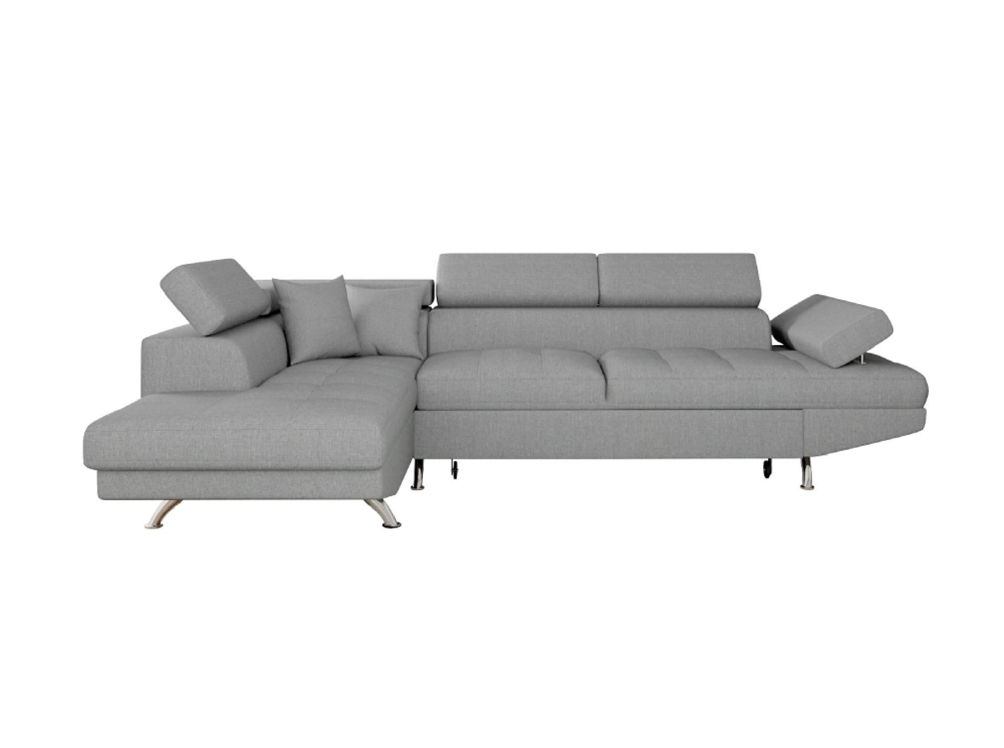 Canapé d'angle 5 places Gris Tissu Contemporain Confort