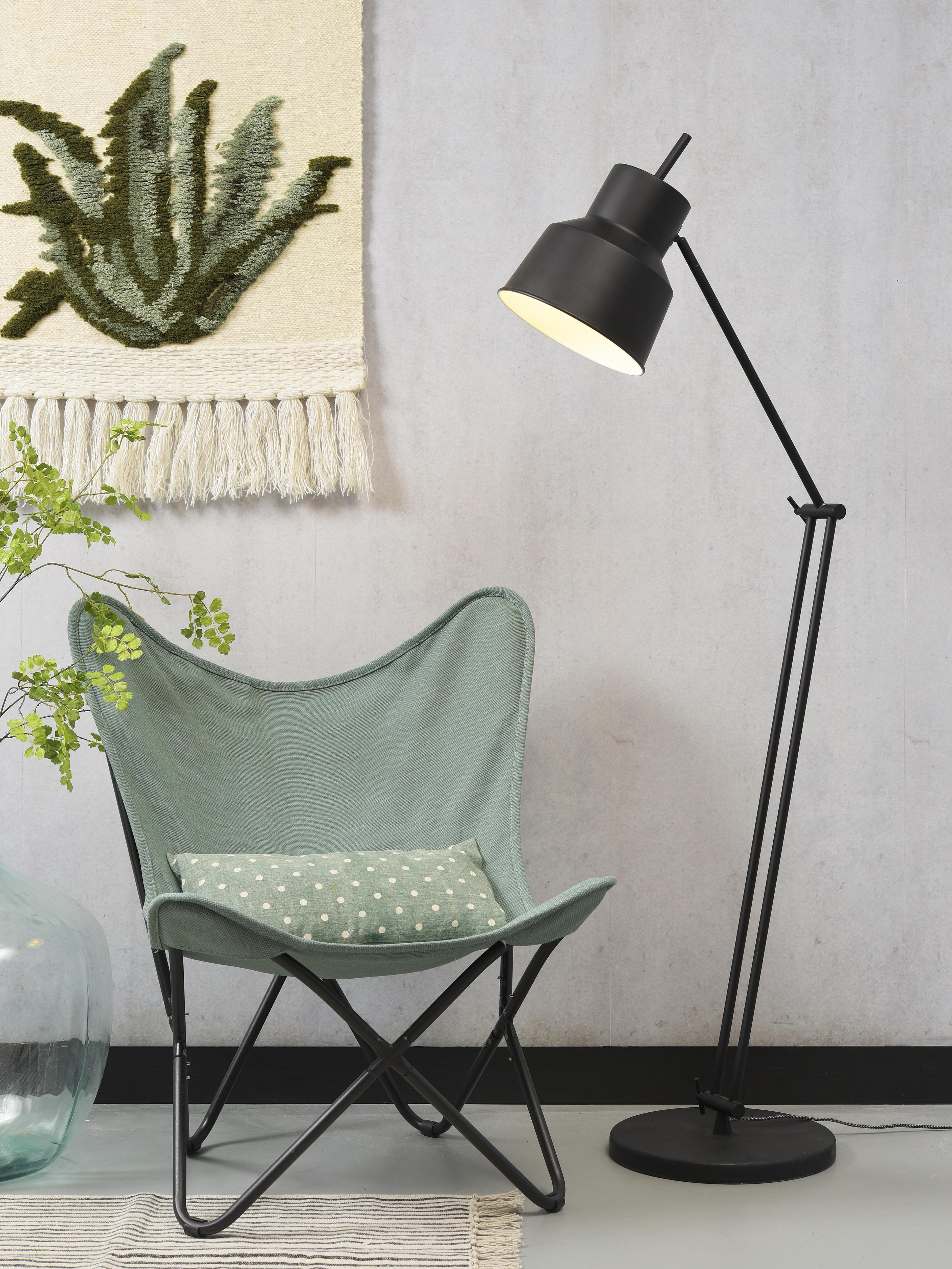 Lampadaire ajustable noir H156cm