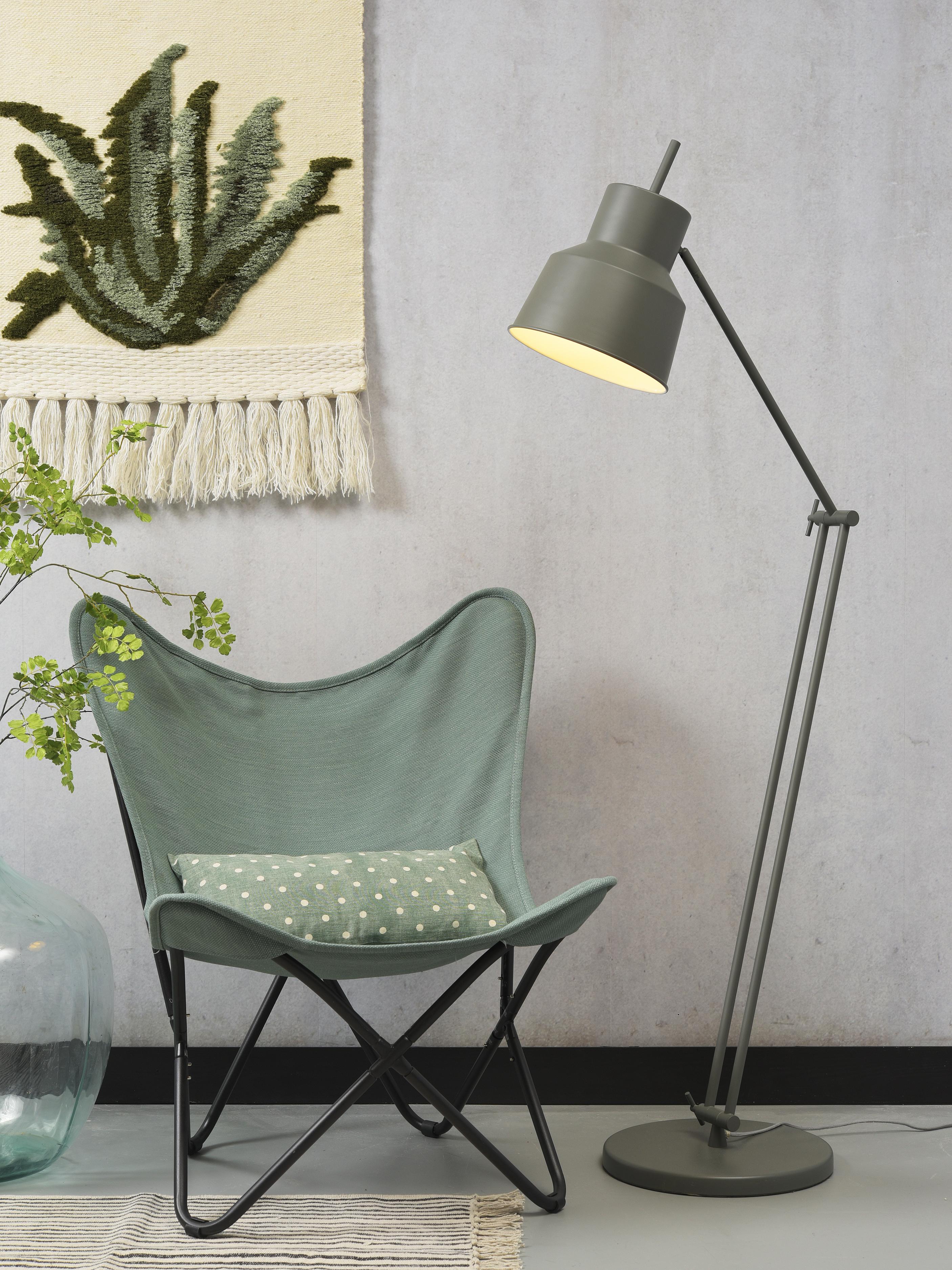 Lampadaire ajustable vert H156cm