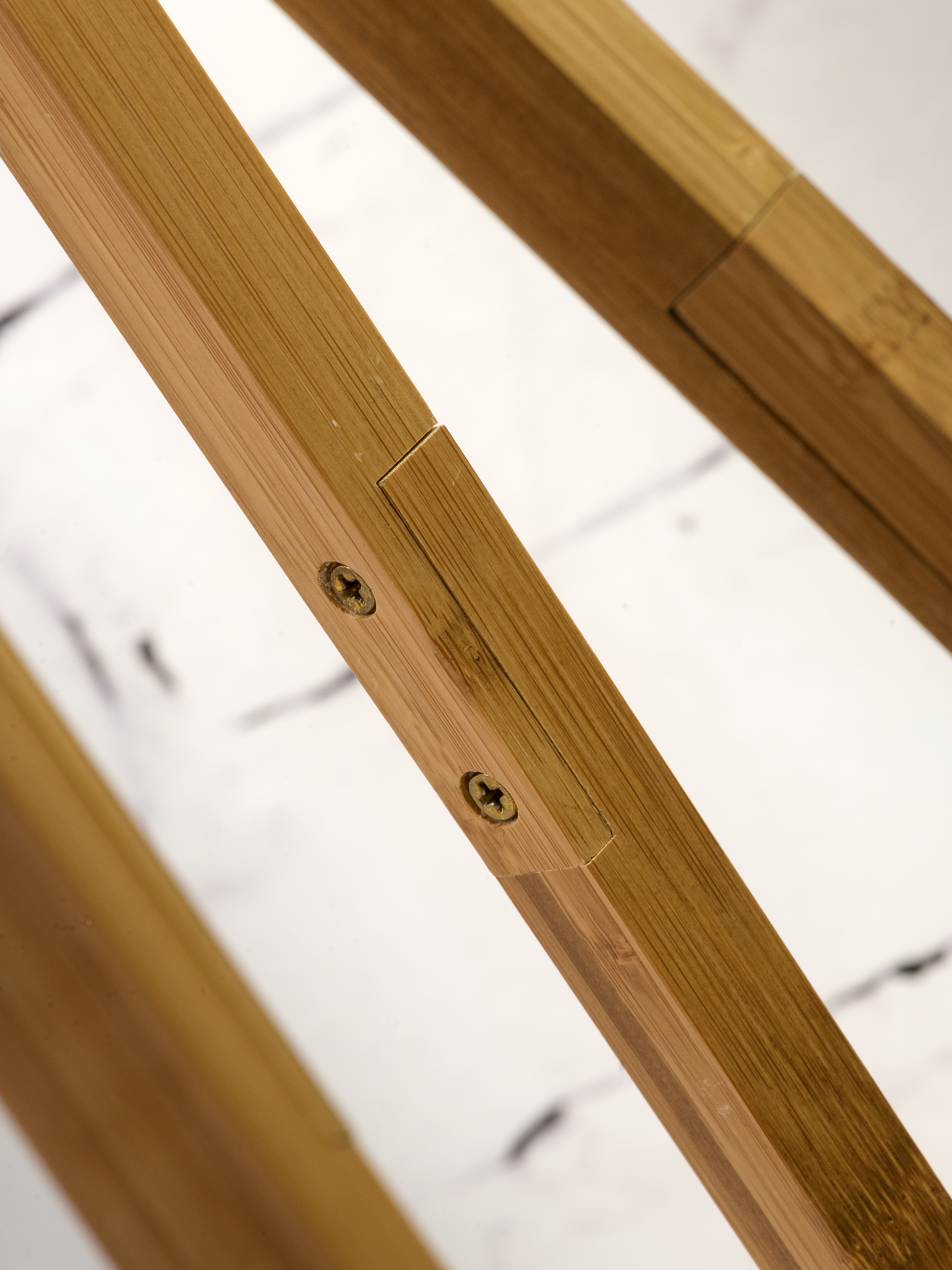 Lampadaire en bambou et lin gris H160cm