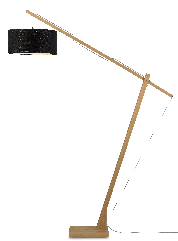 maison du monde Lampadaire bambou/lin noir H207cm