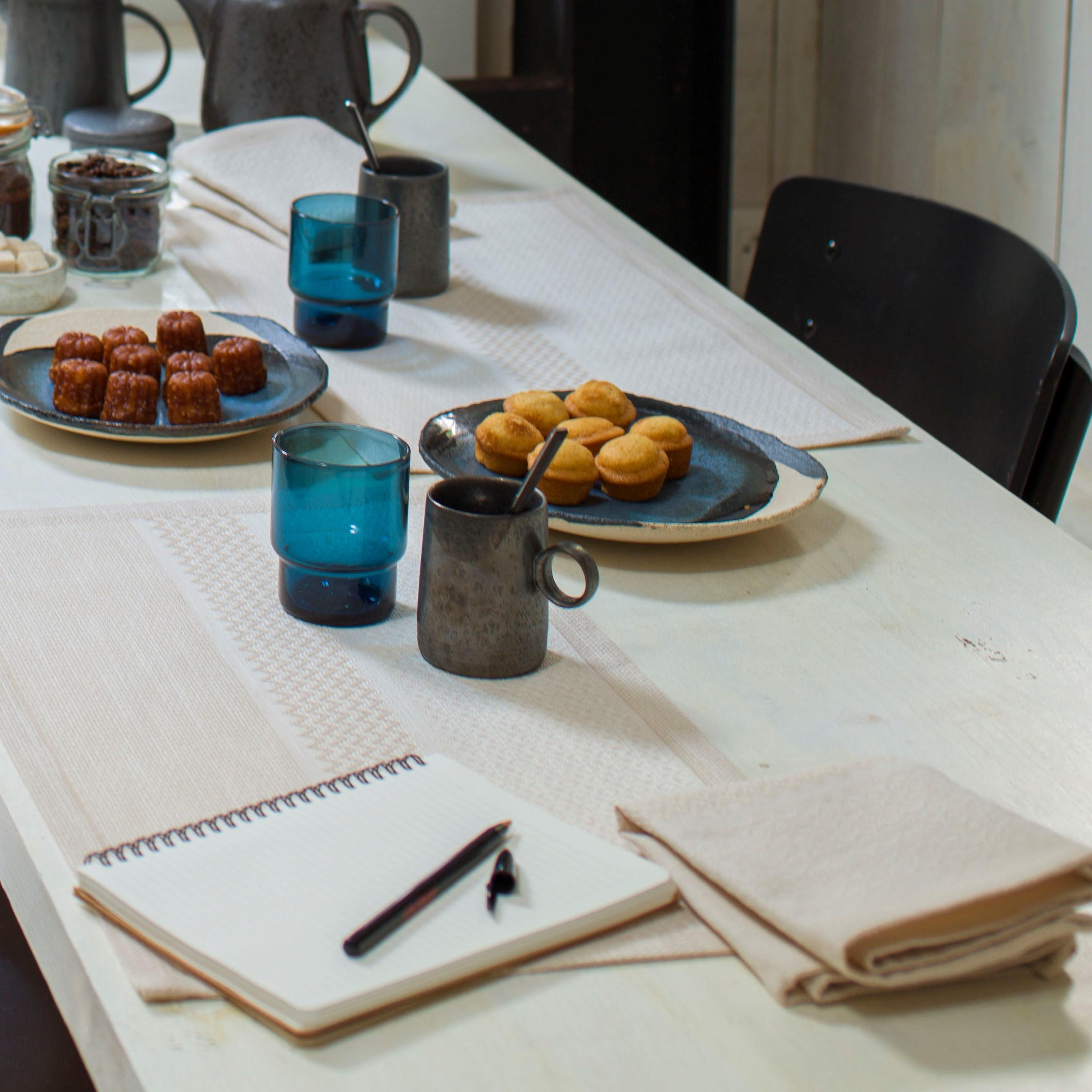 Serviette de table en 100% coton beige 47x47