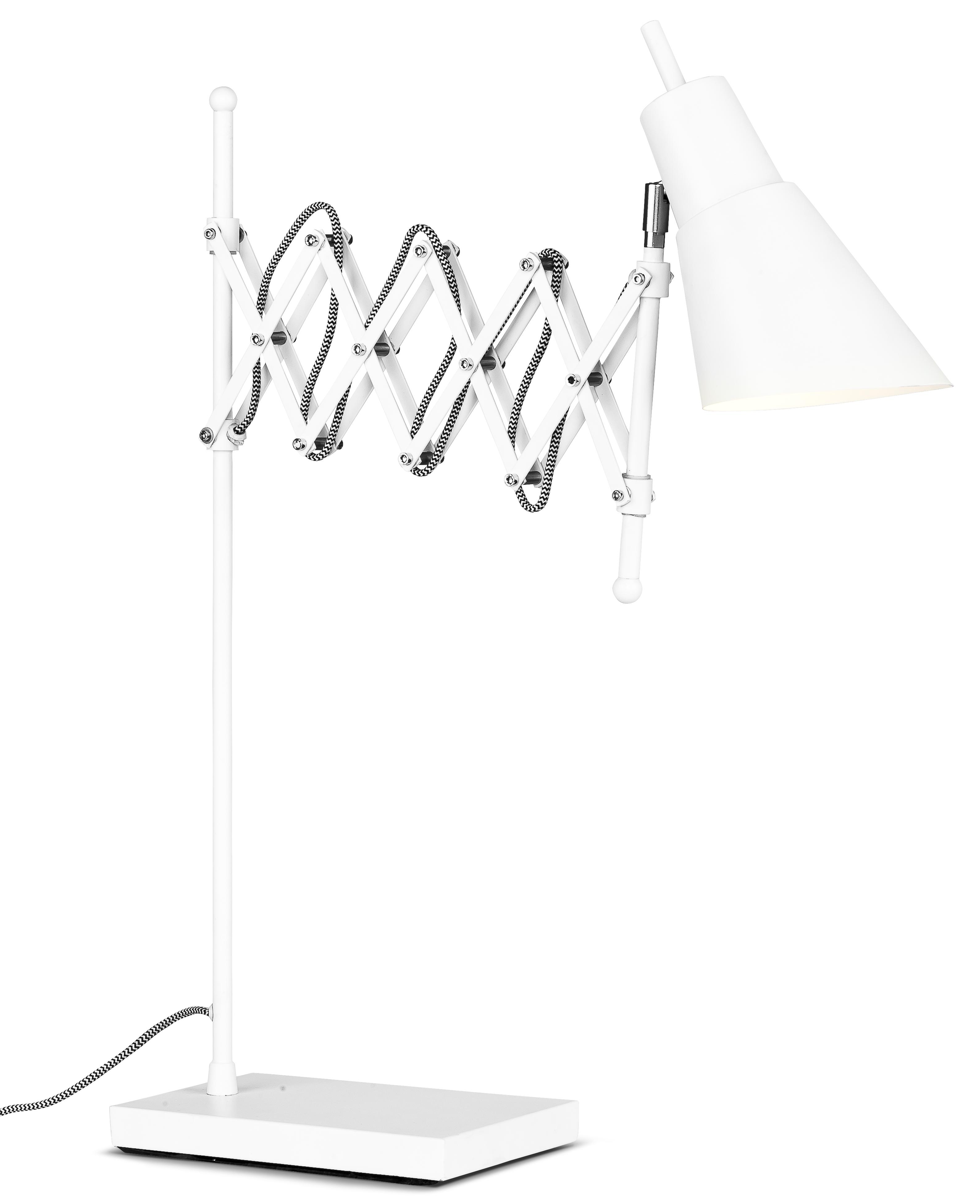 Lampe de table flexible en fer blanc