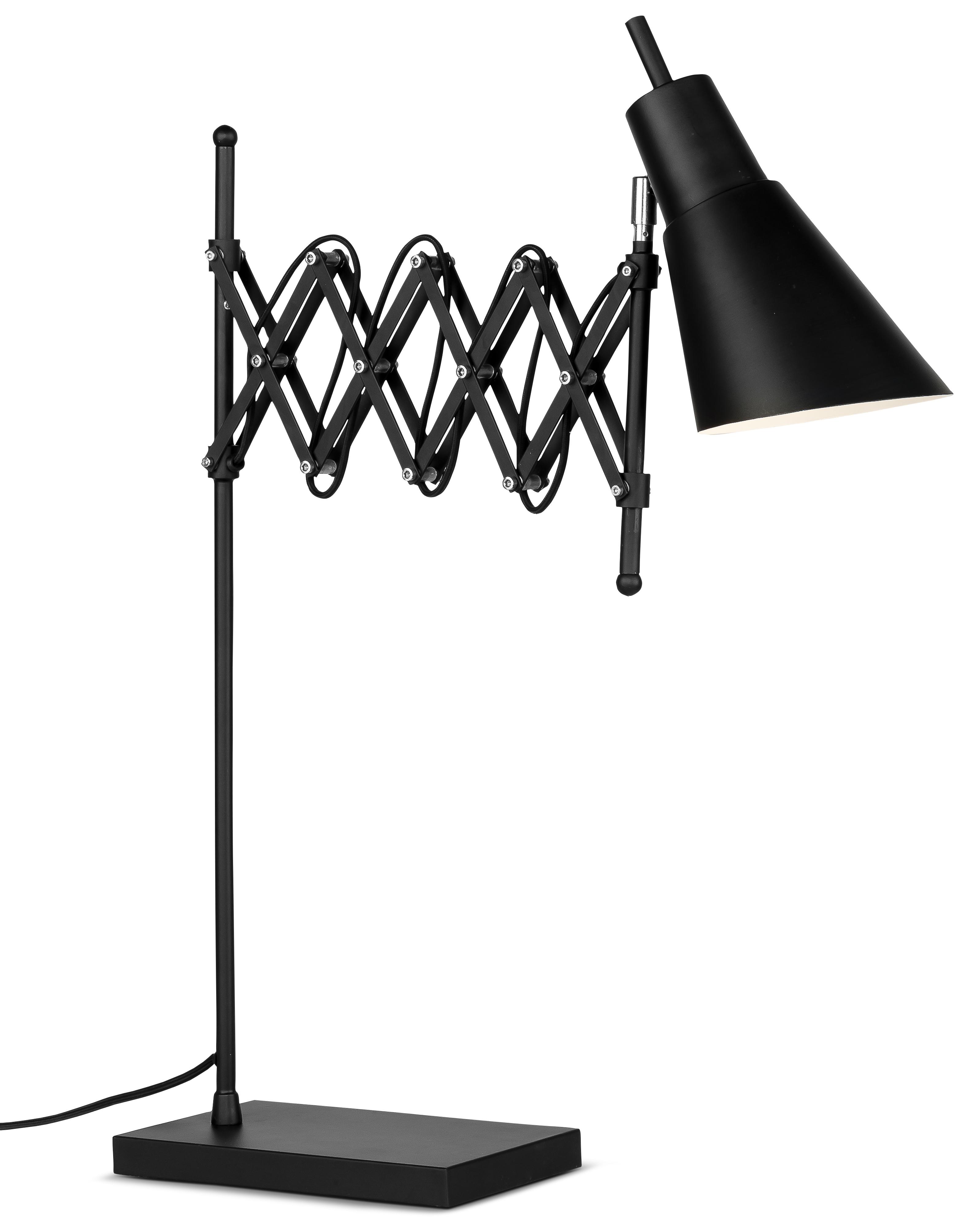 Lampe de table flexible en fer noir