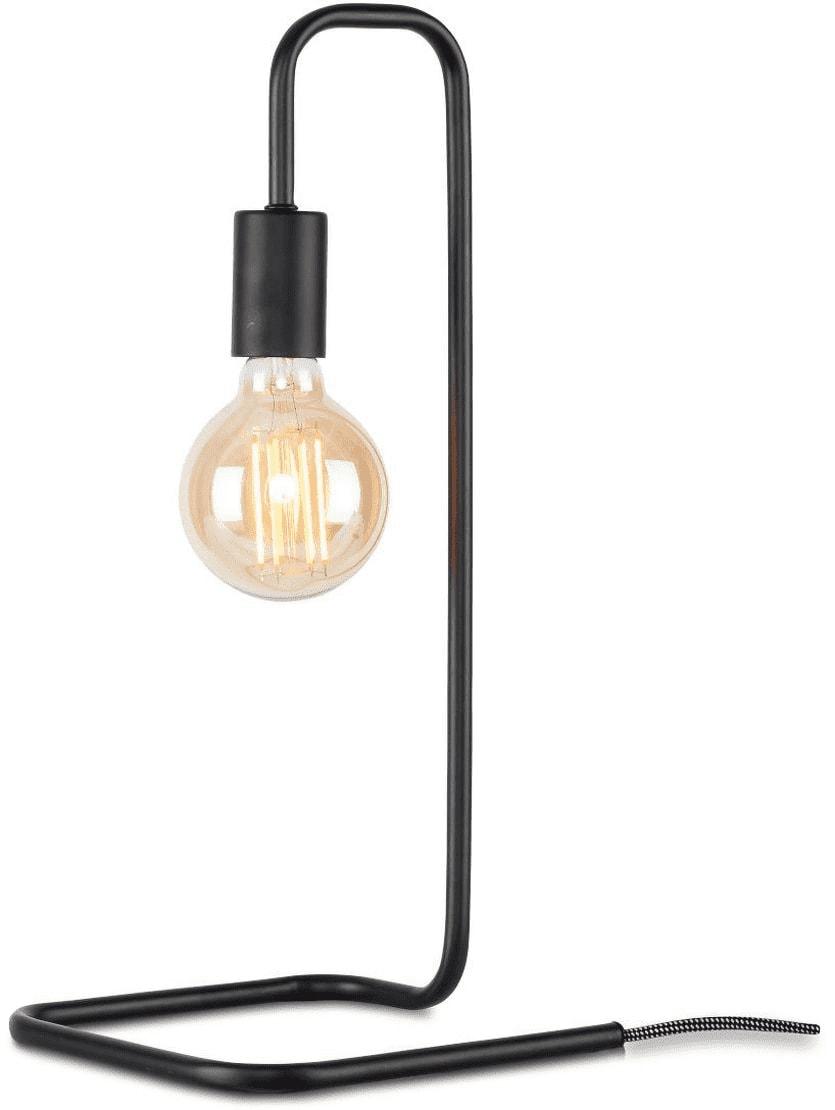 Lampe de table en fer noir H45cm