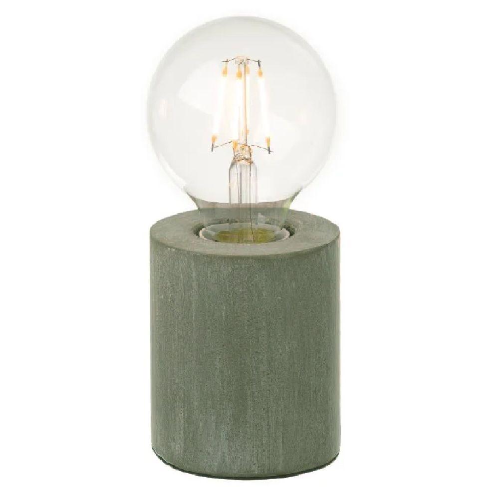 Lampe bois clair et ampoule néo-vintage H18cm