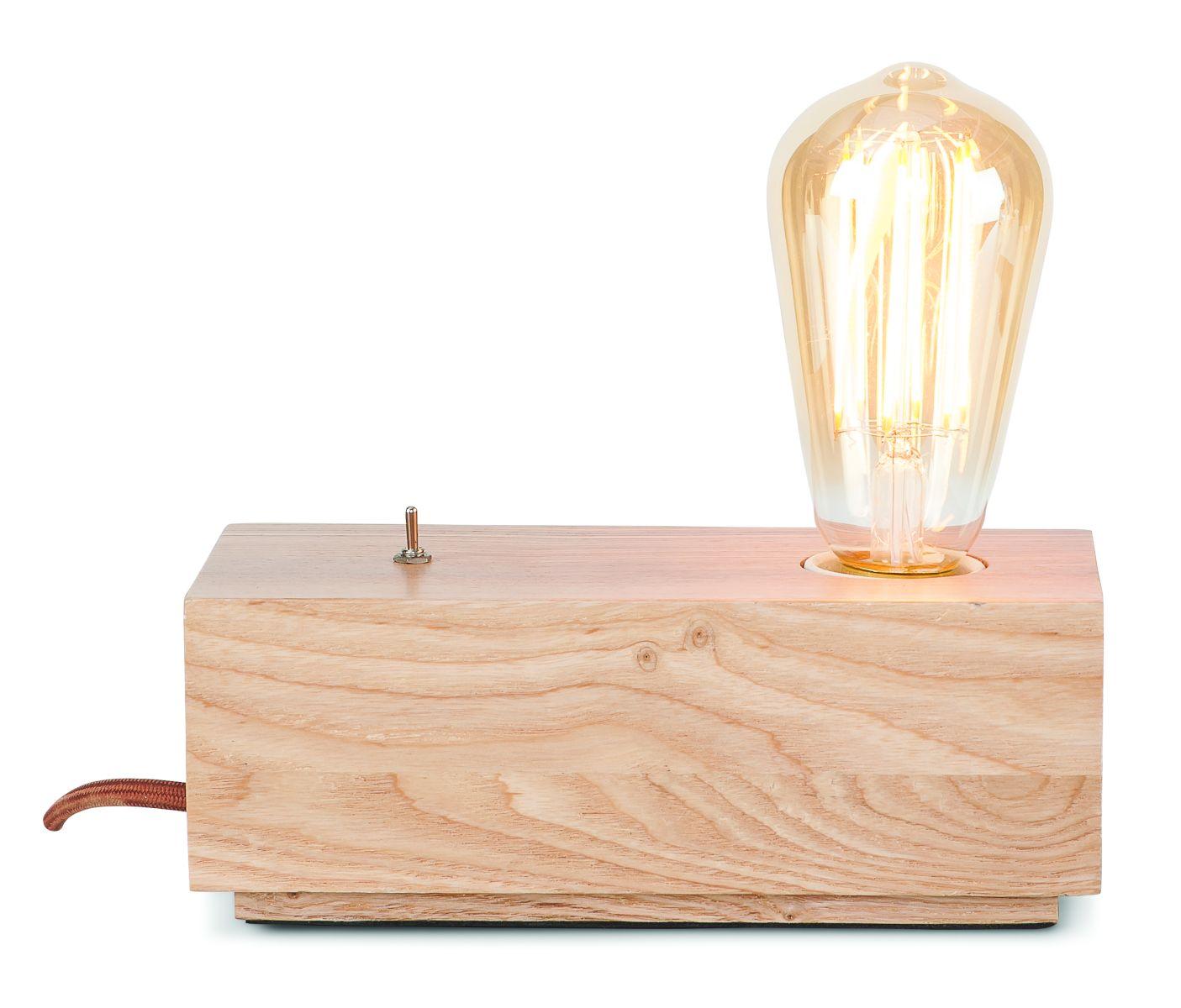 Lampe de table en bois L20cm