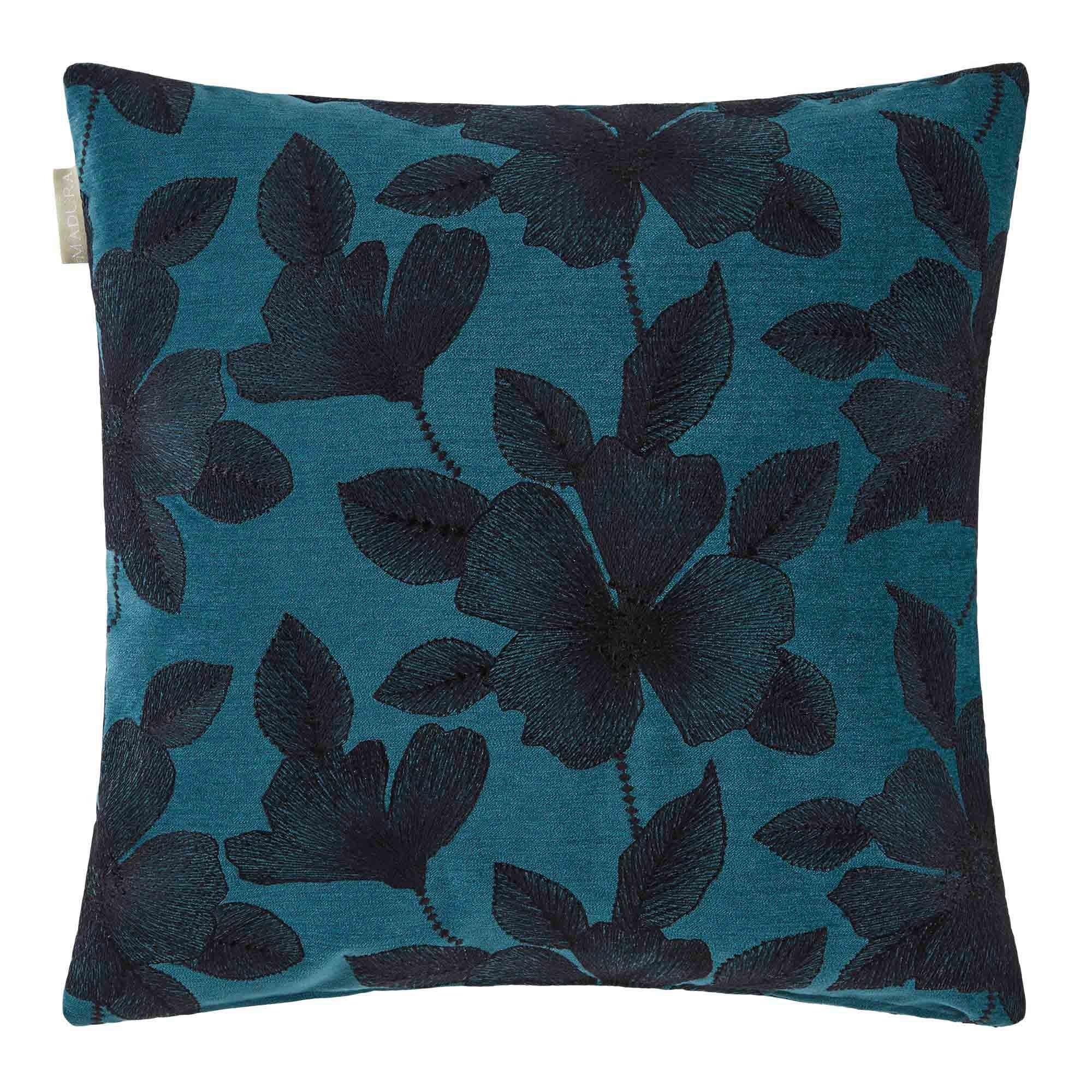Housse de coussin 50x50 cm Bleu vert et noir