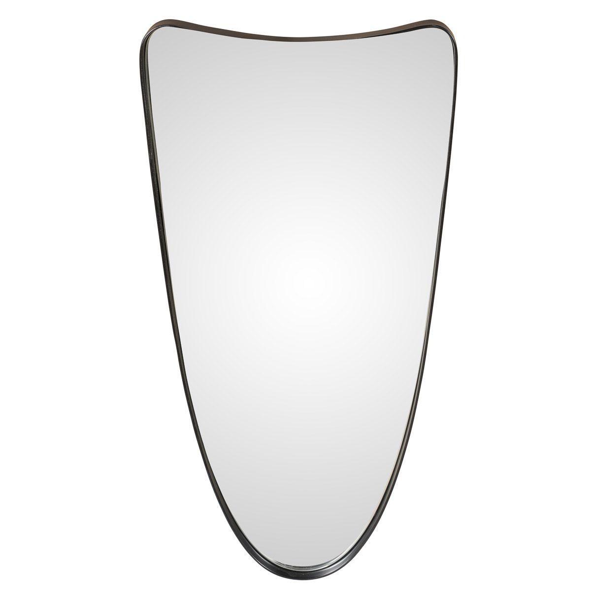 Miroir noir en fer 61x31cm