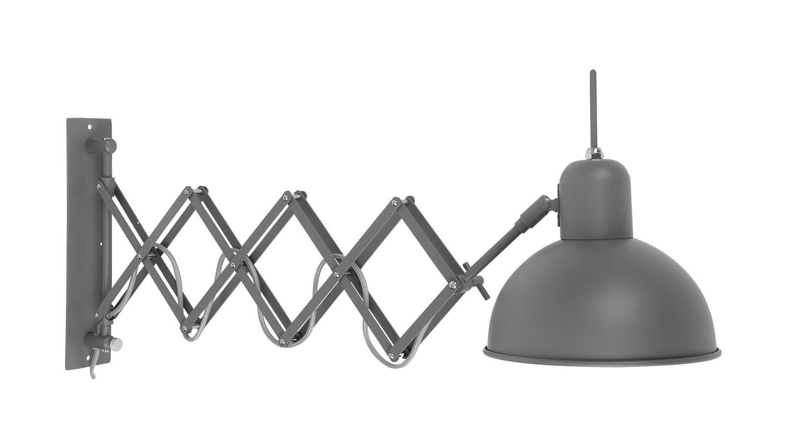 Applique murale déployante acier vert L50-85cm