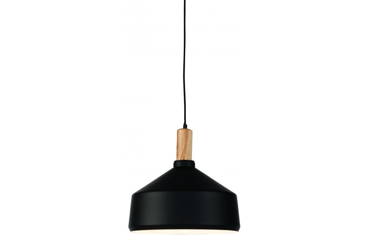 Suspension en fer noir H34cm
