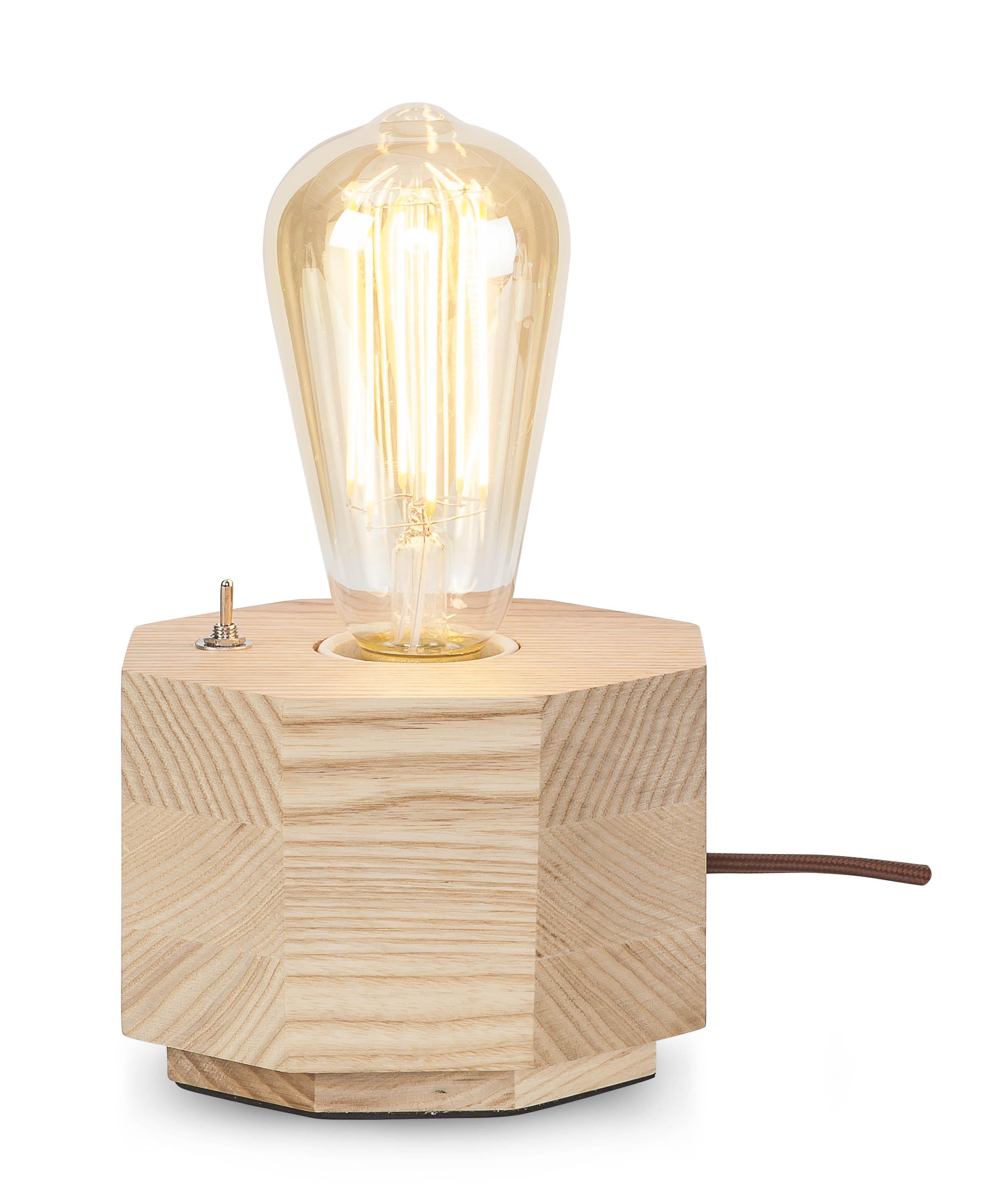 Lampe de table en bois L13cm