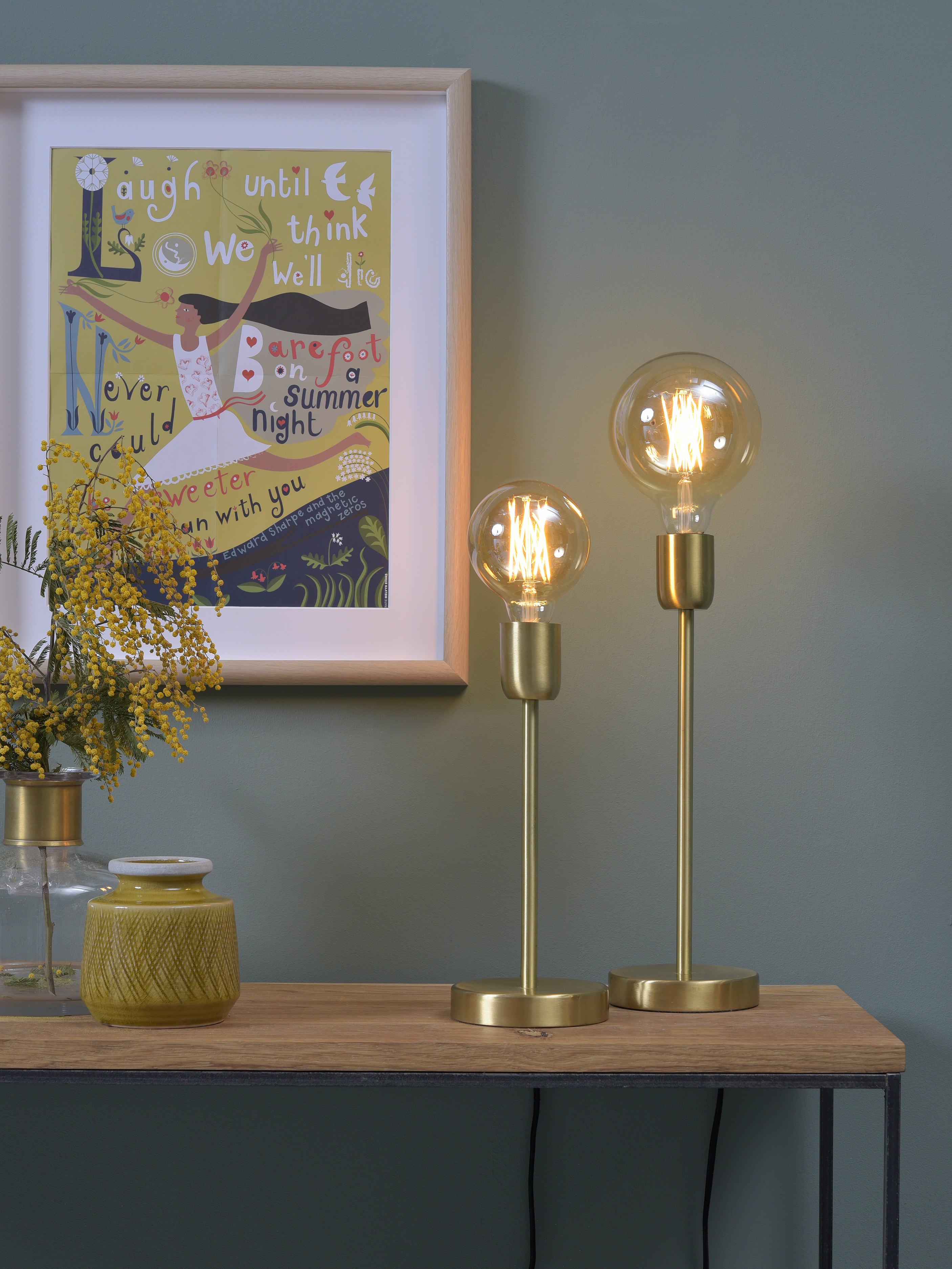 Lampe de table dorée H37cm