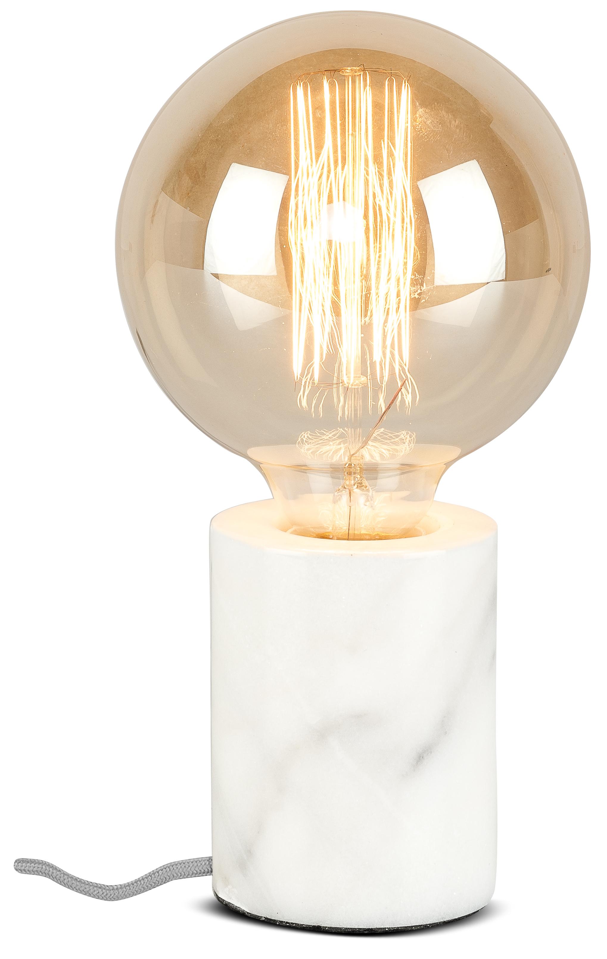 Lampe de table en marbre blanc H10cm