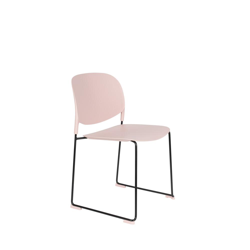 maison du monde 4 chaises en plastique rose pastel