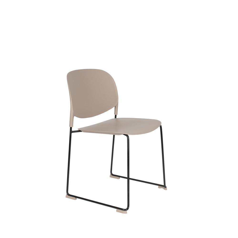 maison du monde 4 chaises en plastique beige