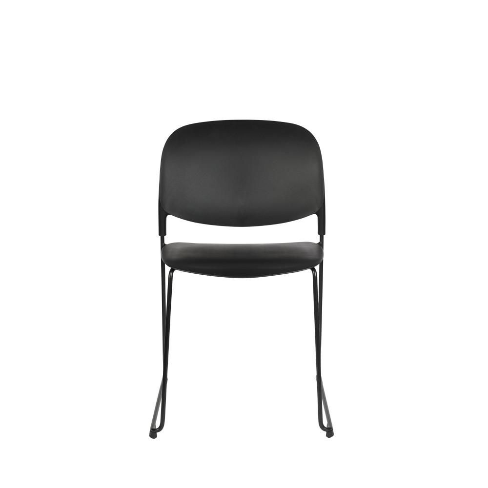 maison du monde 4 chaises en plastique noir