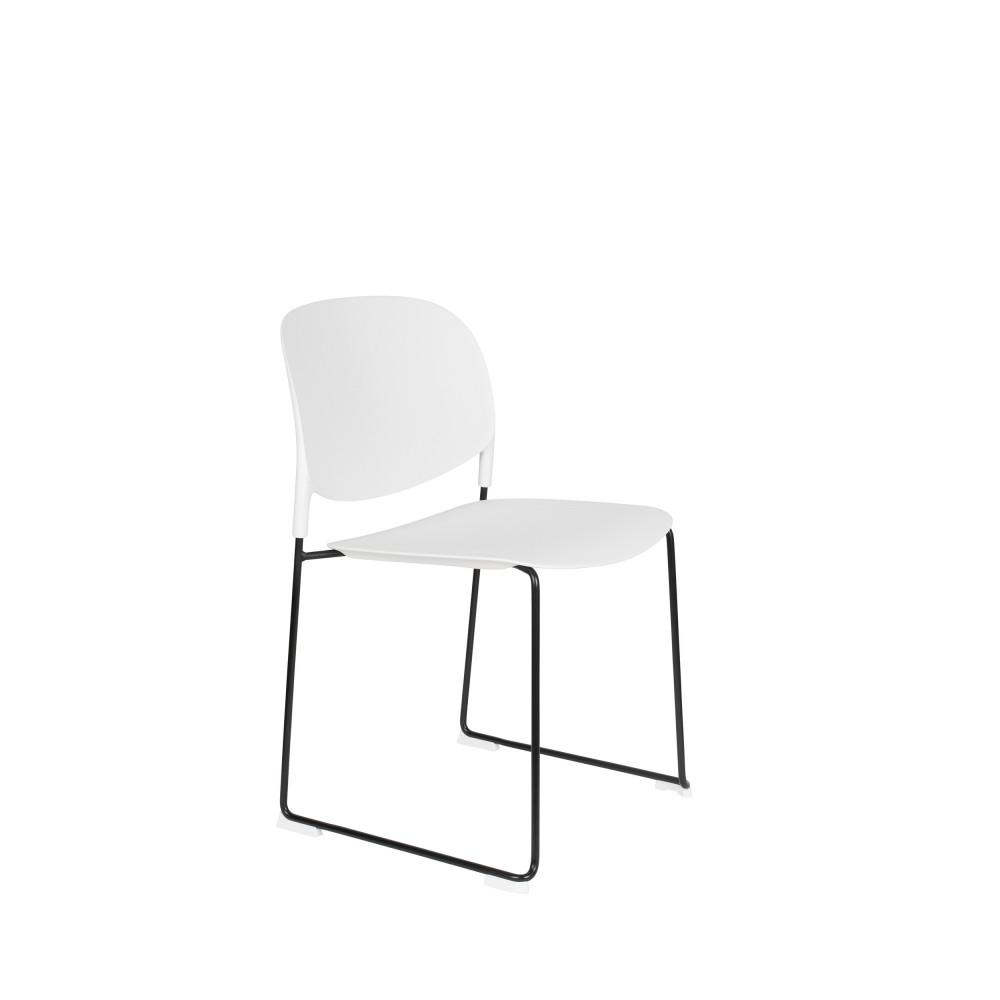 maison du monde 4 chaises en plastique blanc