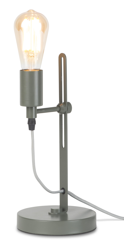 Lampe de table en fer vert H40cm