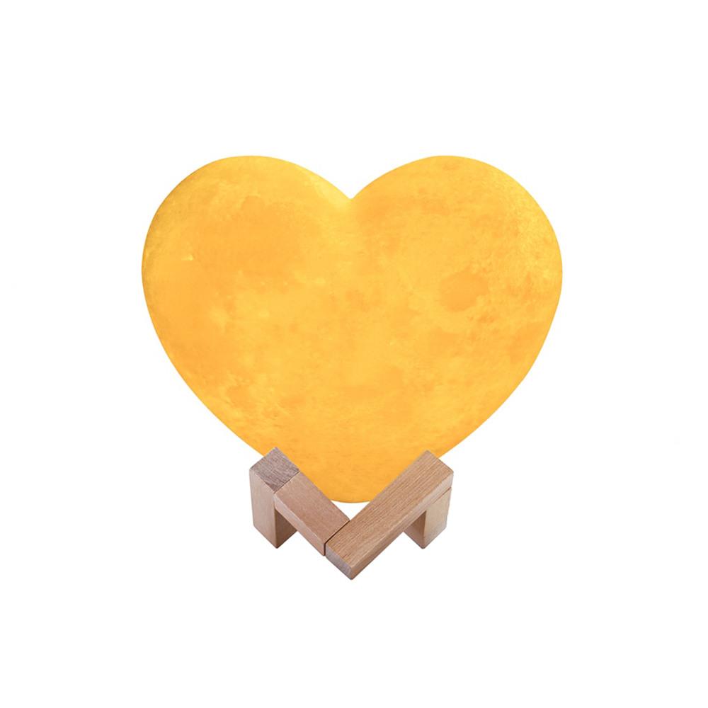 Lampe à poser en forme de cœur