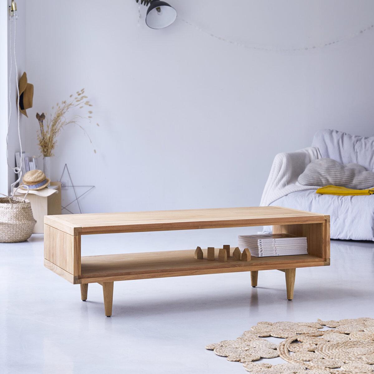 Table basse en teck massif 120x50