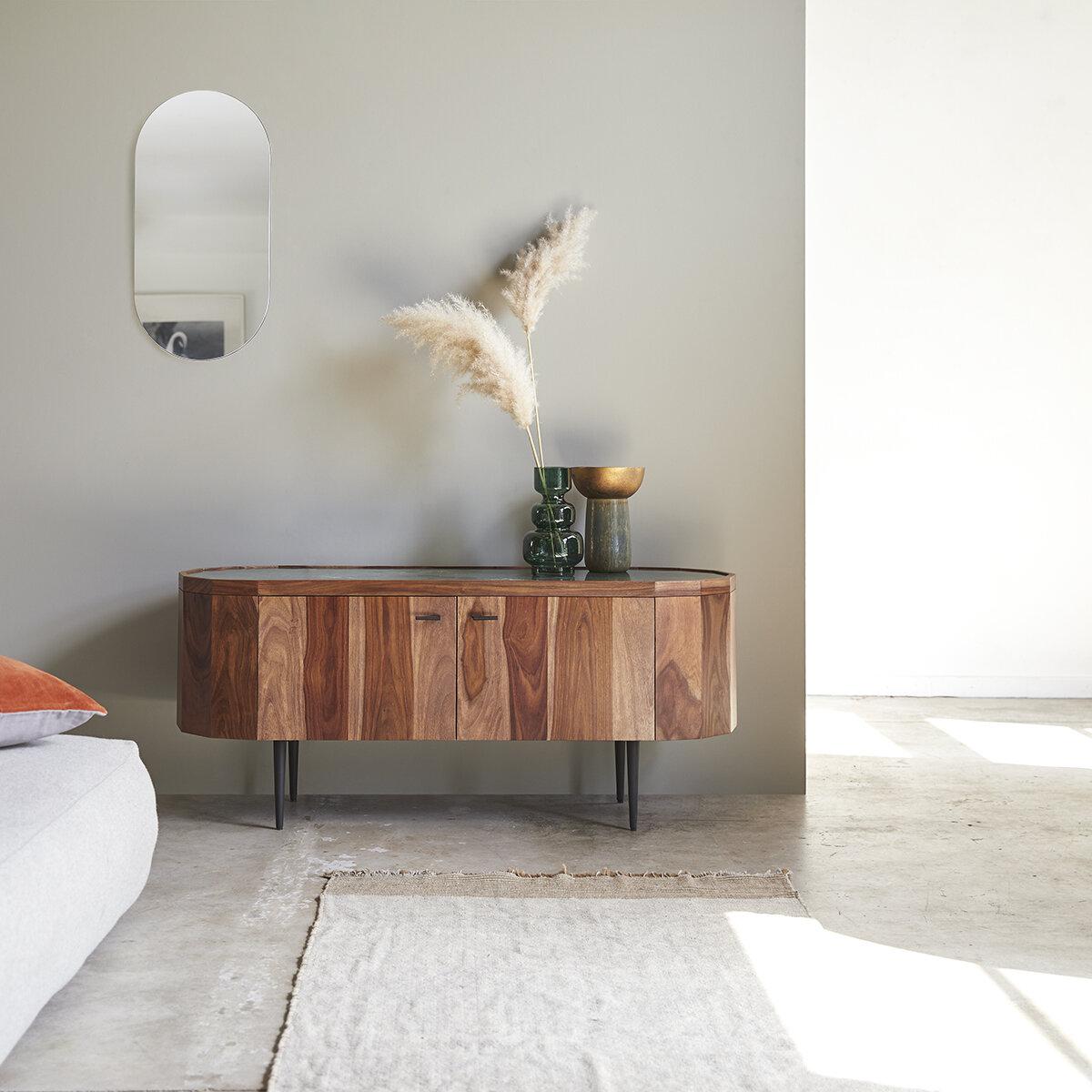 maison du monde Meuble TV en bois de palissandre et marbre 130