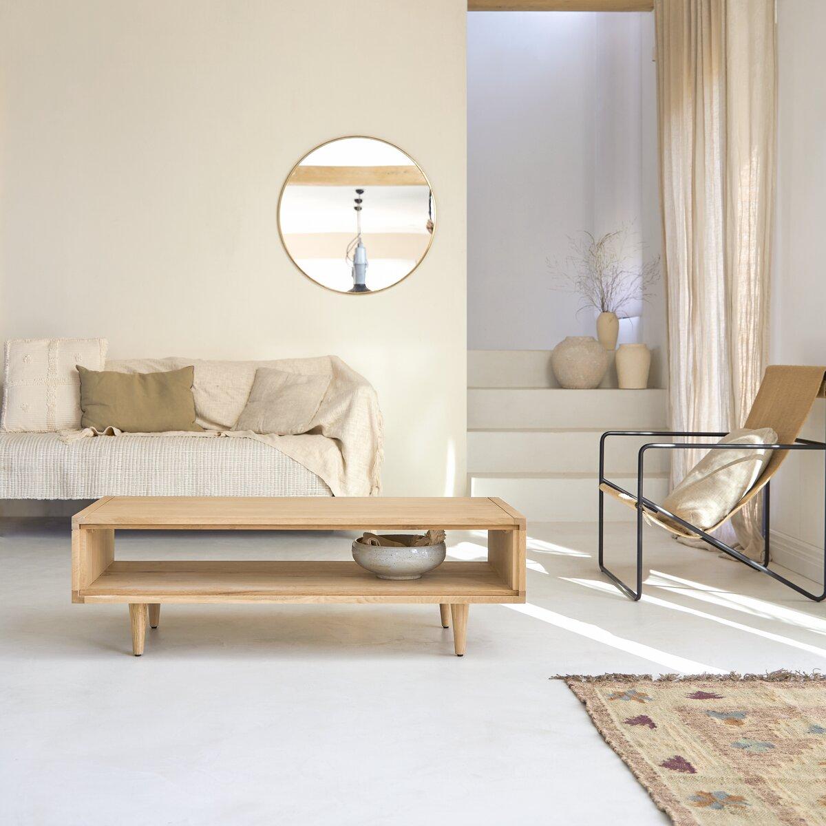 Table basse en chêne massif 120x50