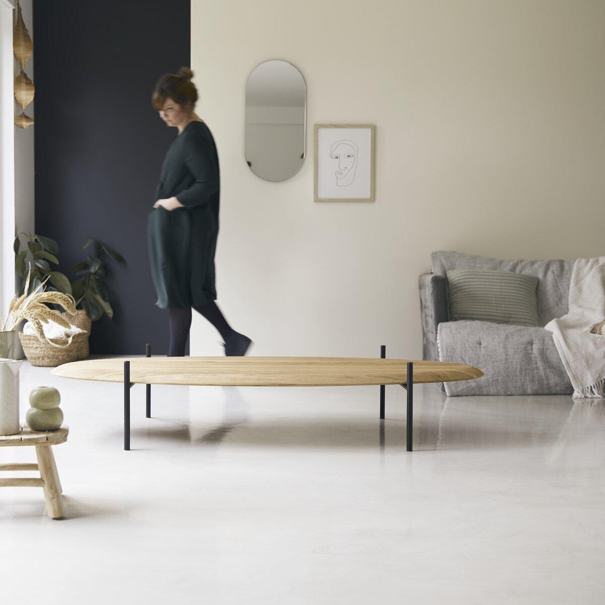 maison du monde Table basse en teck massif 160x80