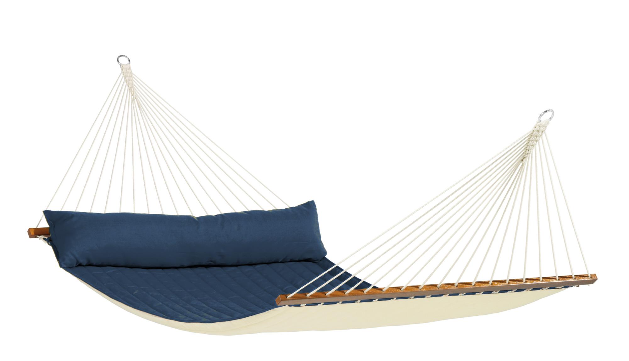 Hamac à barres rembourré en tissu bleu marine