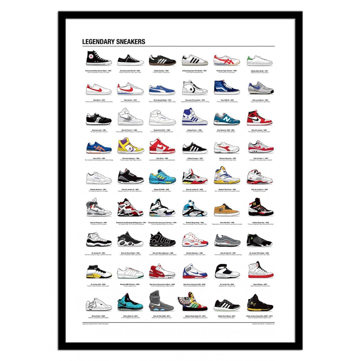LEGENDARY SNEAKERS -  Affiche d'art 50 x 70 cm