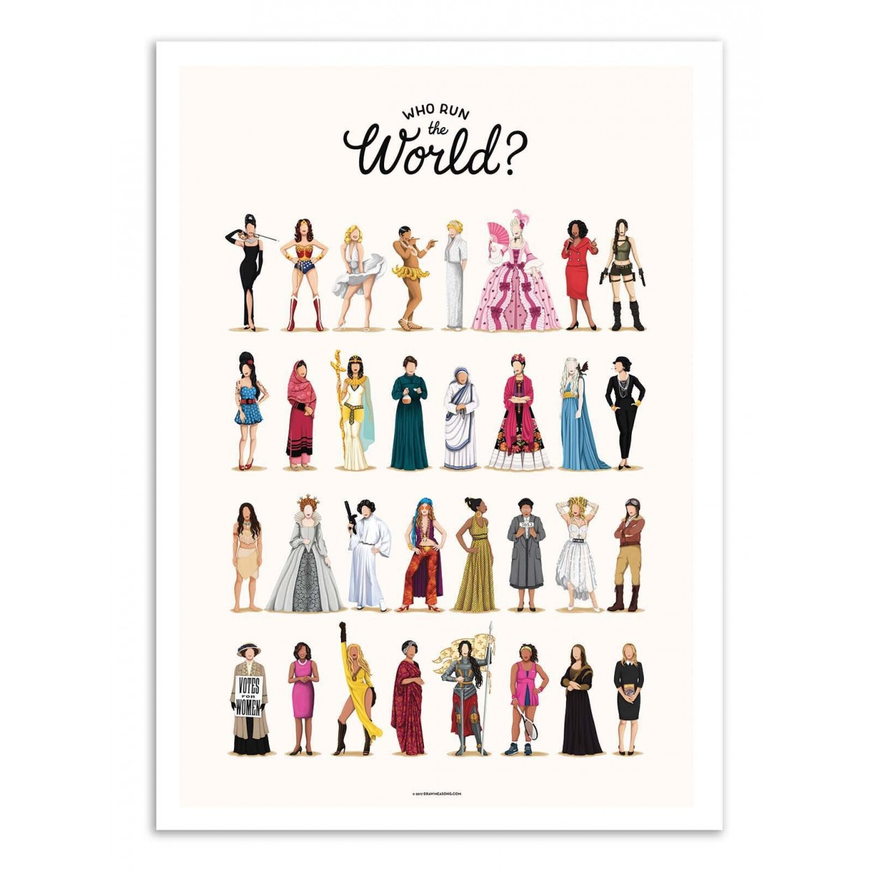 RUN THE WORLD - Affiche d'art 50 x 70 cm