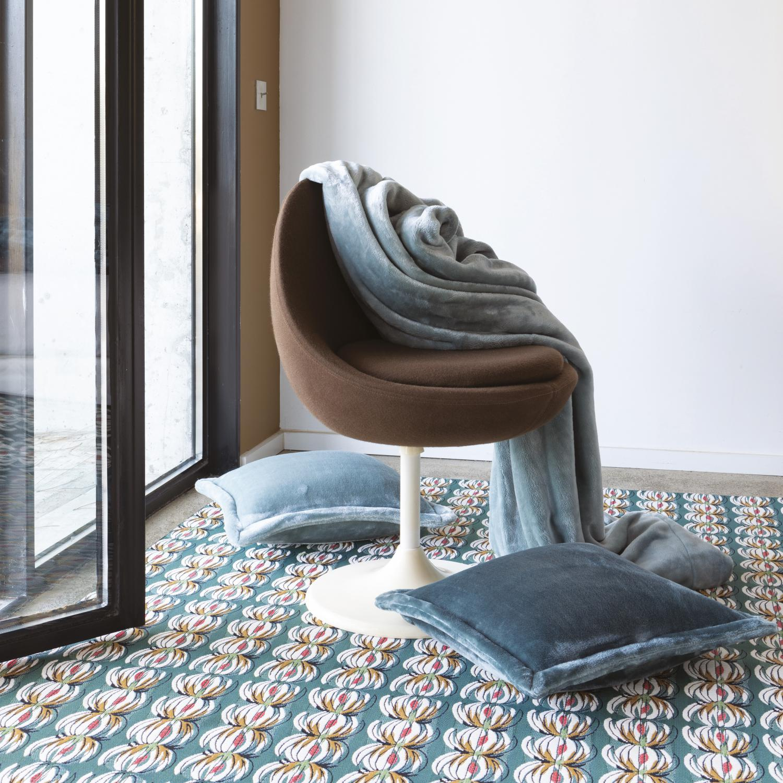 Plaid en polyester foret 150 x 200